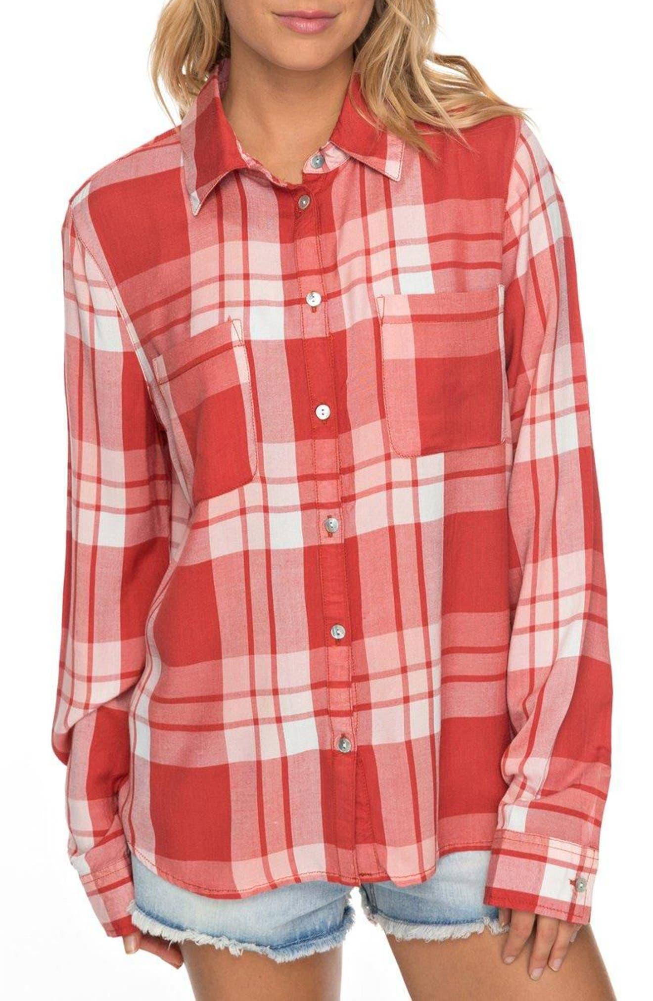 Setai Miami Plaid Shirt,                         Main,                         color, Tandoori Spice Great Plaid