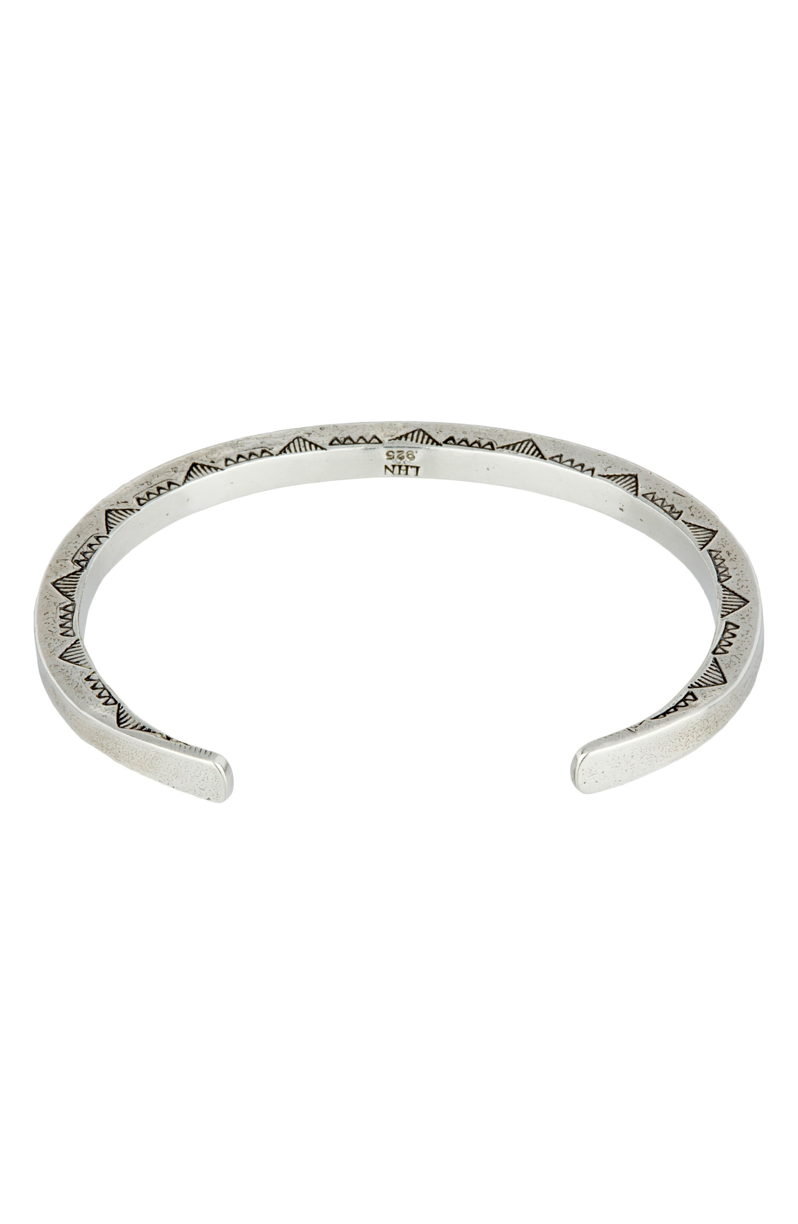 Sterling Silver Cuff Bracelet,                             Alternate thumbnail 2, color,                             Silver