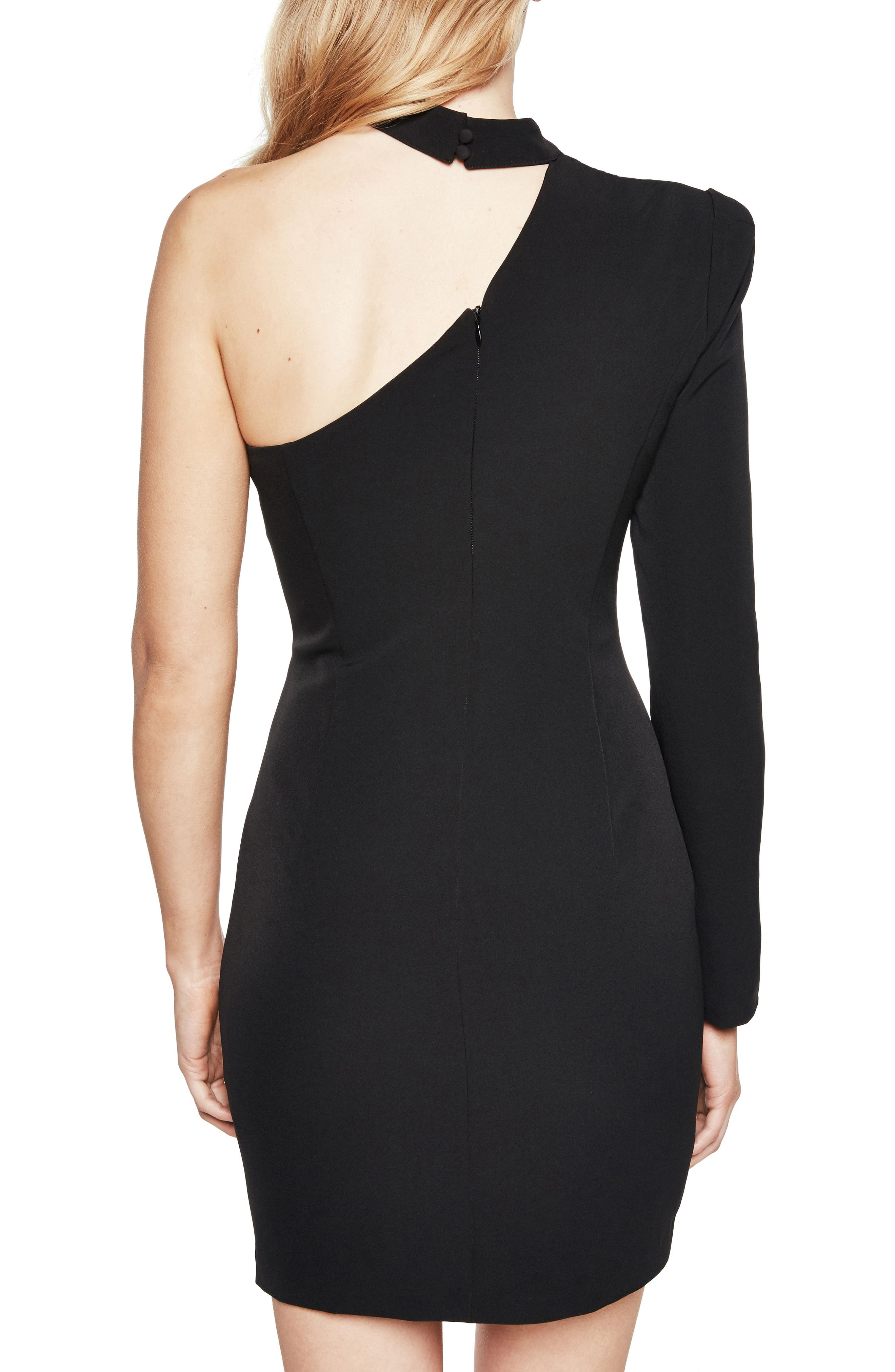 Alternate Image 2  - Bardot Willow One-Shoulder Choker Dress