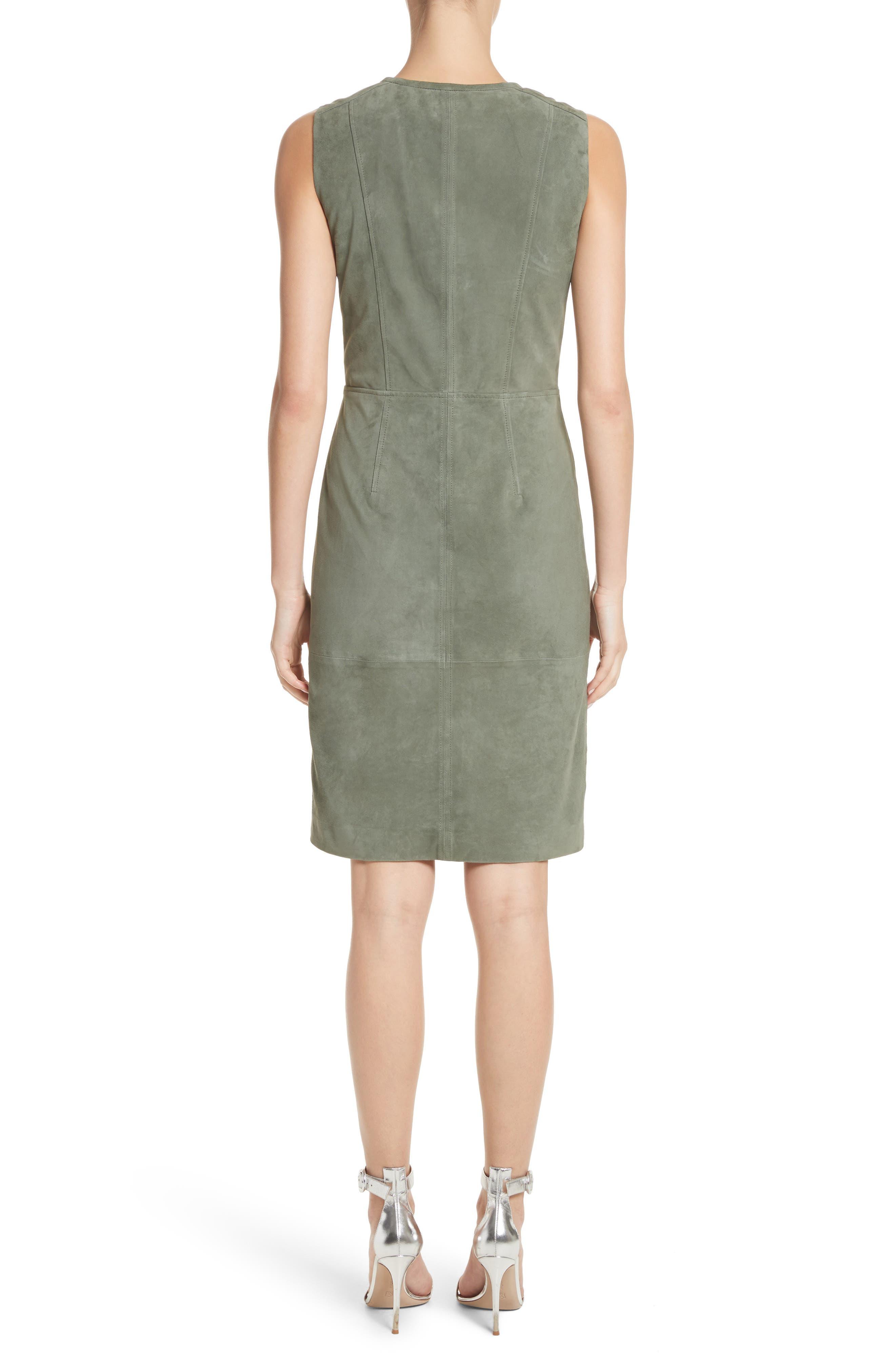 Alternate Image 2  - St. John Collection Suede Dress