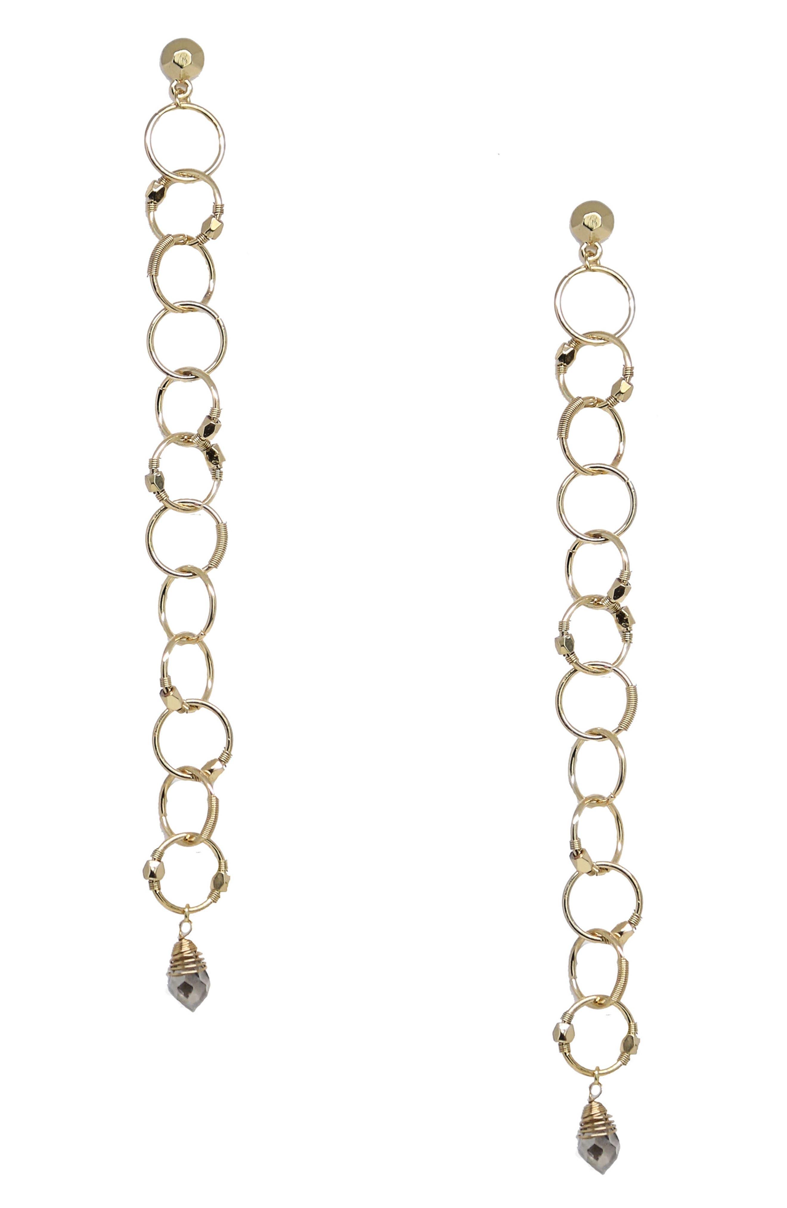 Alternate Image 1 Selected - Ettika Gold Plate Ring Dangle Earrings