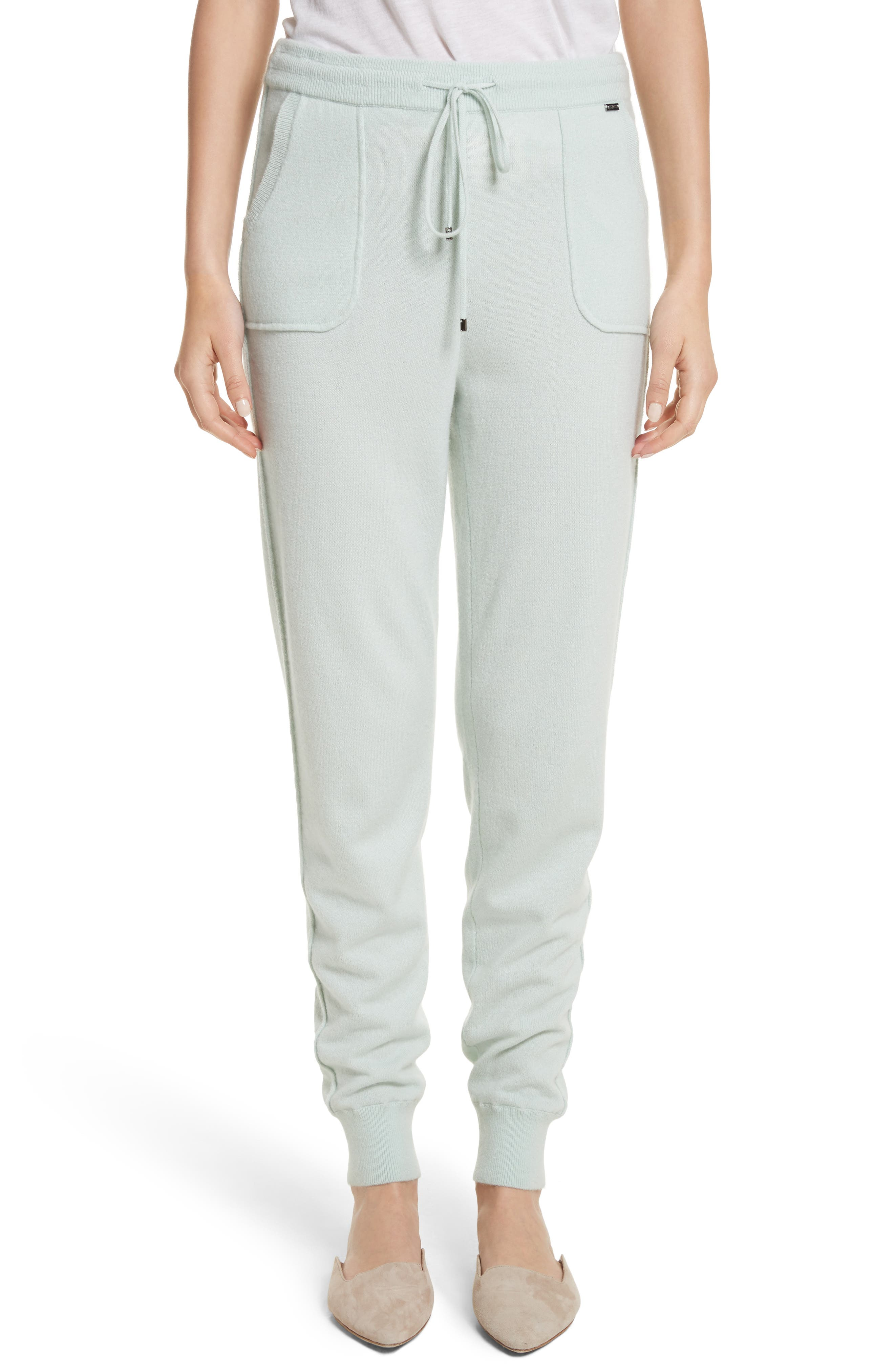 Cashmere Jersey Sweatpants,                             Main thumbnail 1, color,                             Mint
