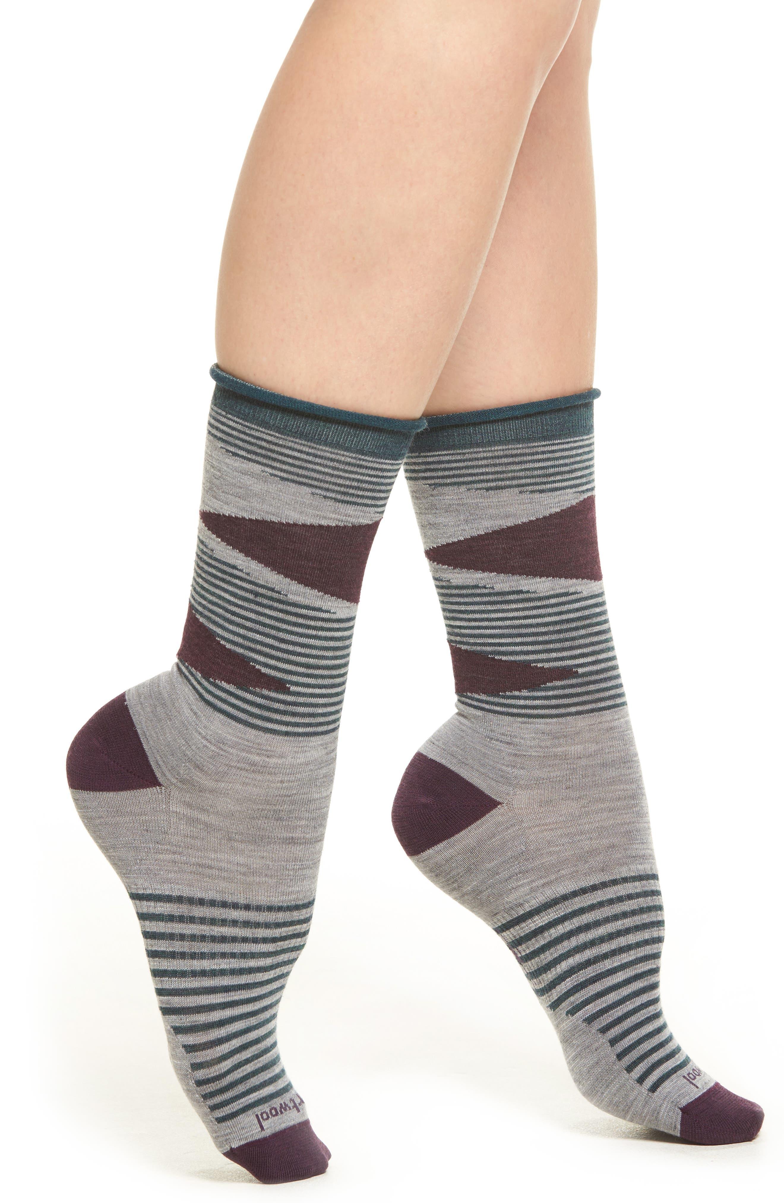 First Mate Crew Socks,                         Main,                         color, Light Gray Heather
