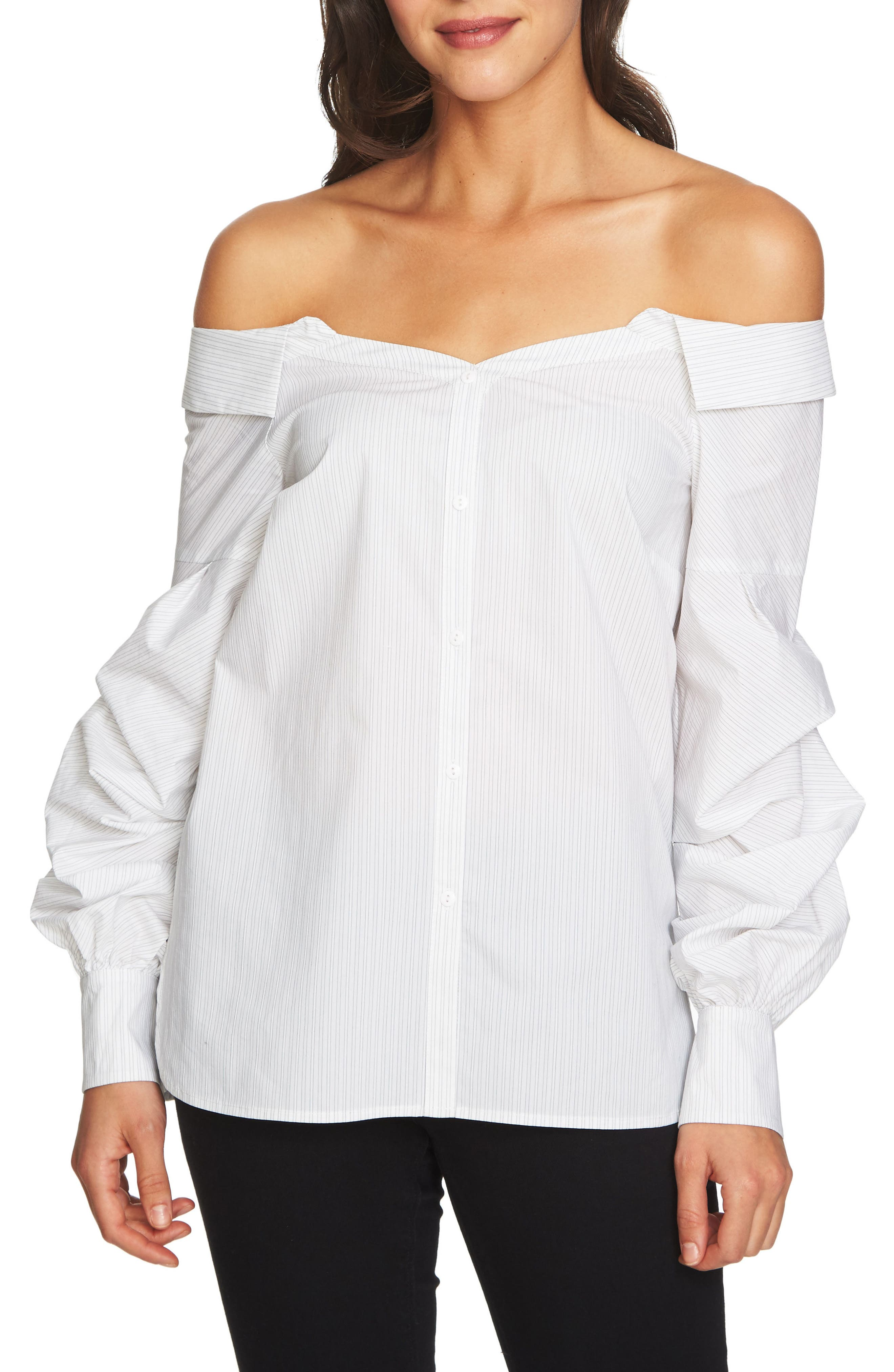 Off the Shoulder Blouse,                             Main thumbnail 1, color,                             Ultra White