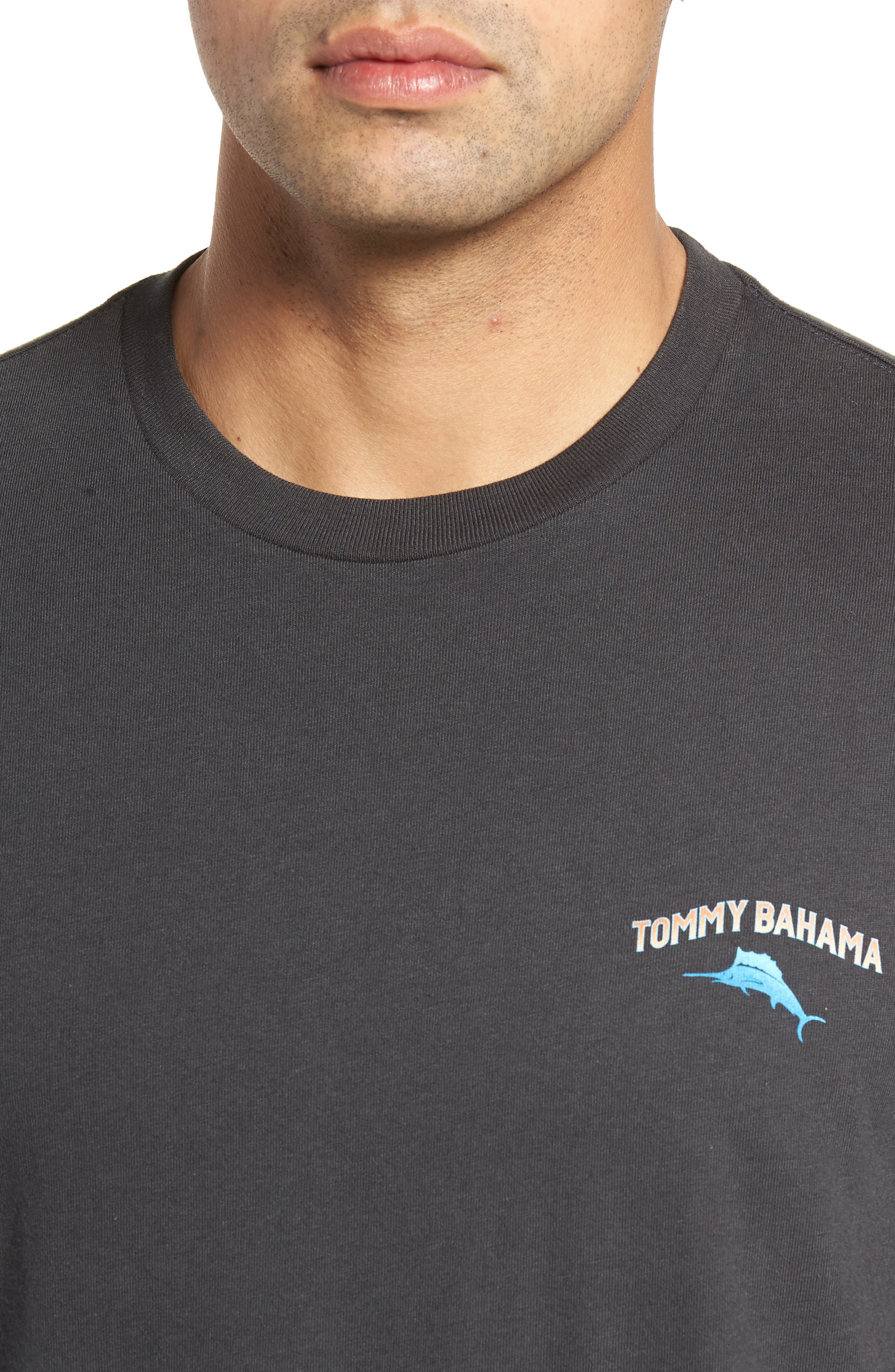 Cab Legs Graphic T-Shirt,                             Alternate thumbnail 4, color,                             Coal