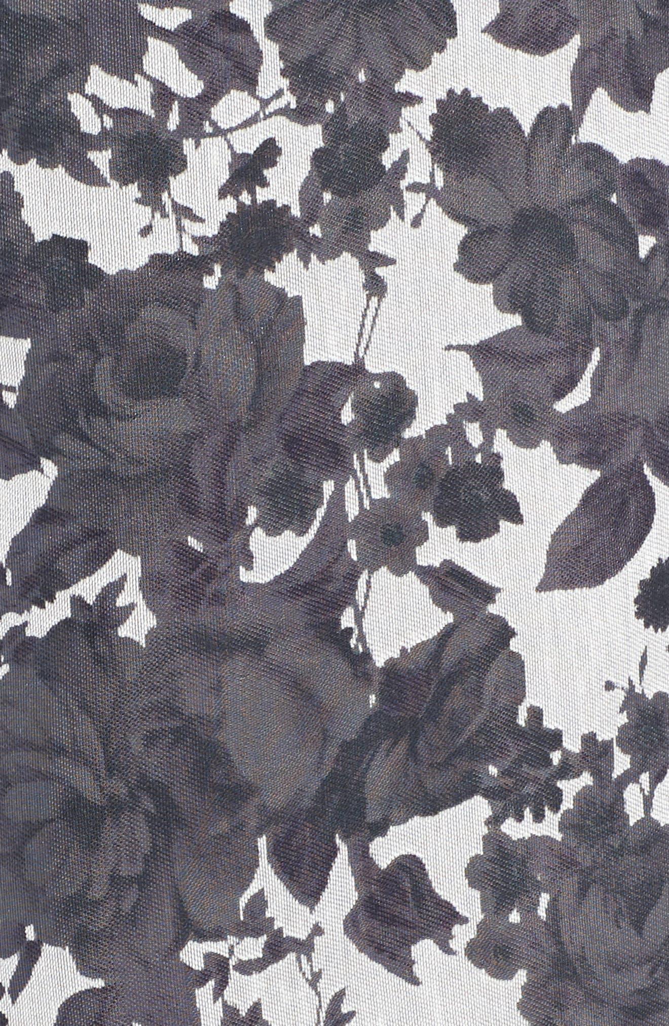 Alyssa Fit & Flare Dress,                             Alternate thumbnail 5, color,                             Lilac Mist