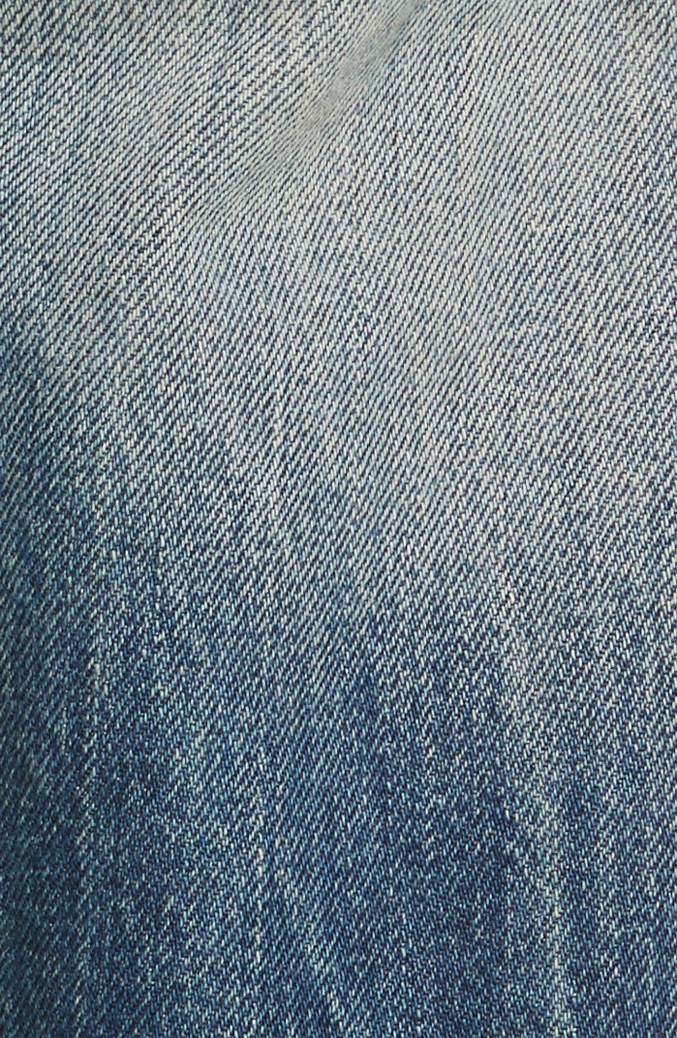 Biker Jeans,                             Alternate thumbnail 5, color,                             Denim Blue