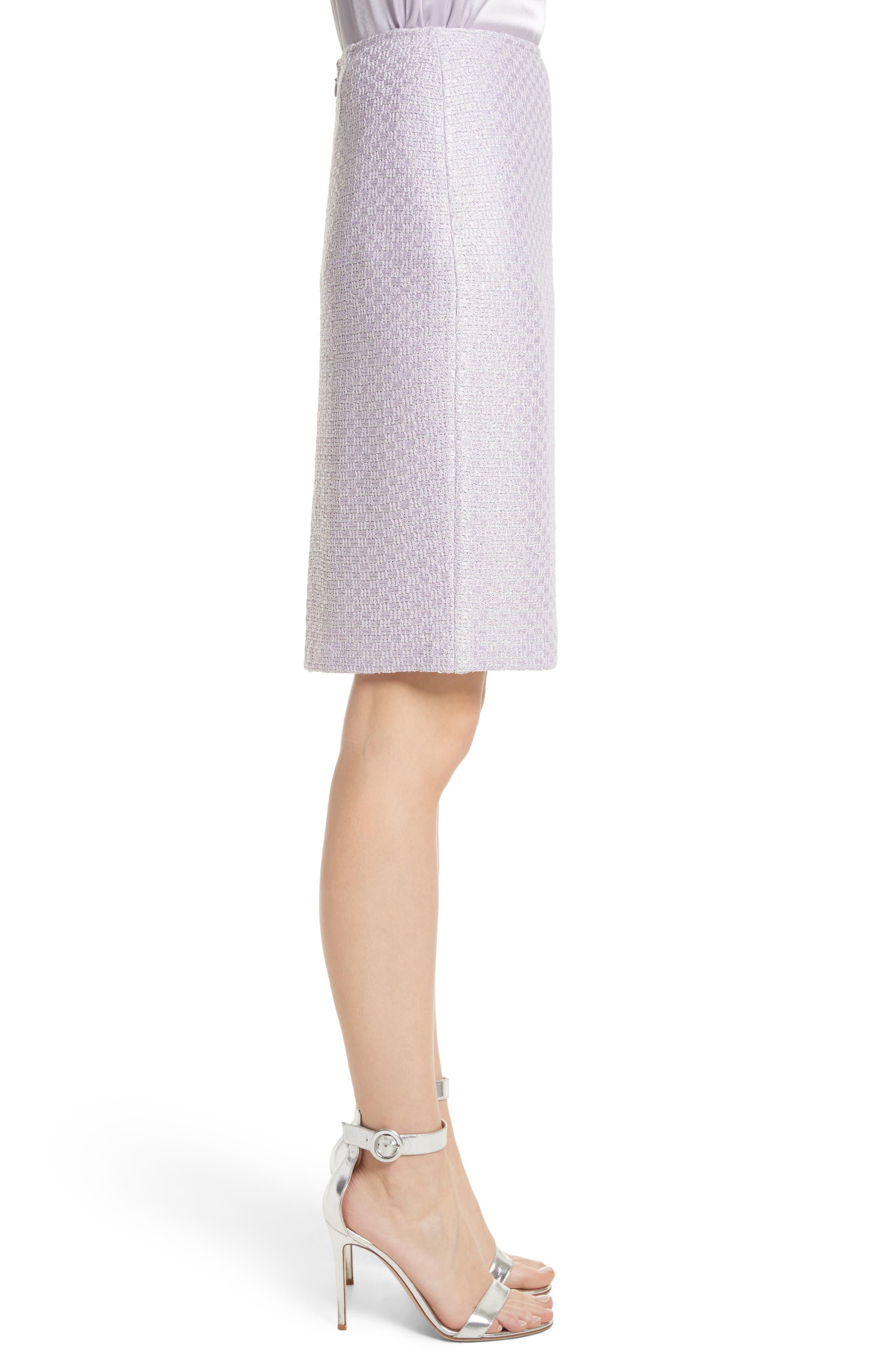 Hansh Sequin Knit Pencil Skirt,                             Alternate thumbnail 3, color,                             Lilac Multi