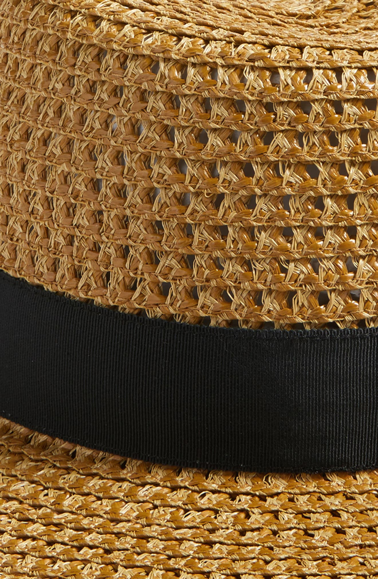 Cannes Squishee<sup>®</sup> Straw Hat,                             Alternate thumbnail 2, color,                             Natural/ Black