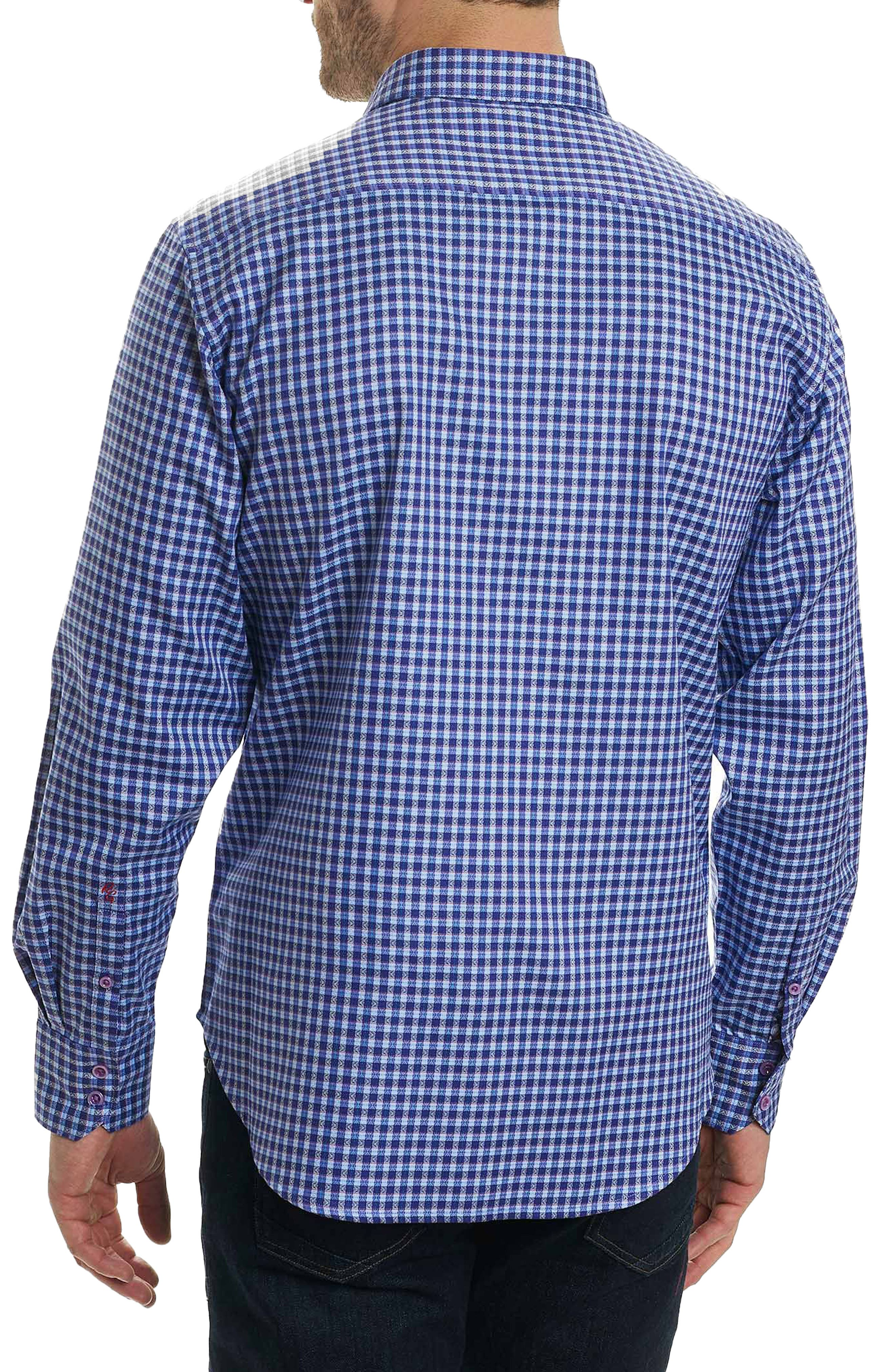 Matira Classic Fit Check Sport Shirt,                             Alternate thumbnail 2, color,                             Purple