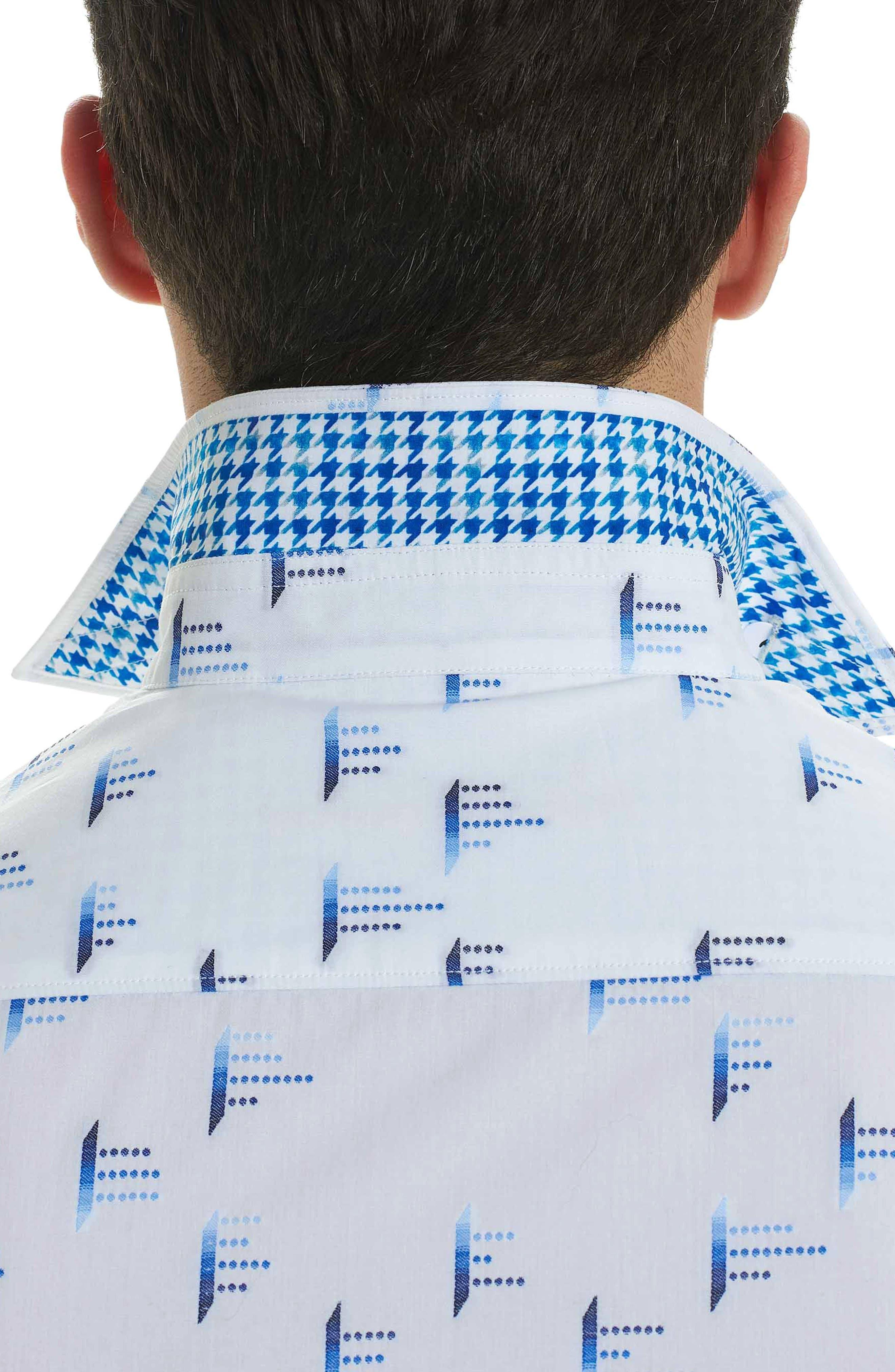 Reid Classic Fit Sport Shirt,                             Alternate thumbnail 3, color,                             White