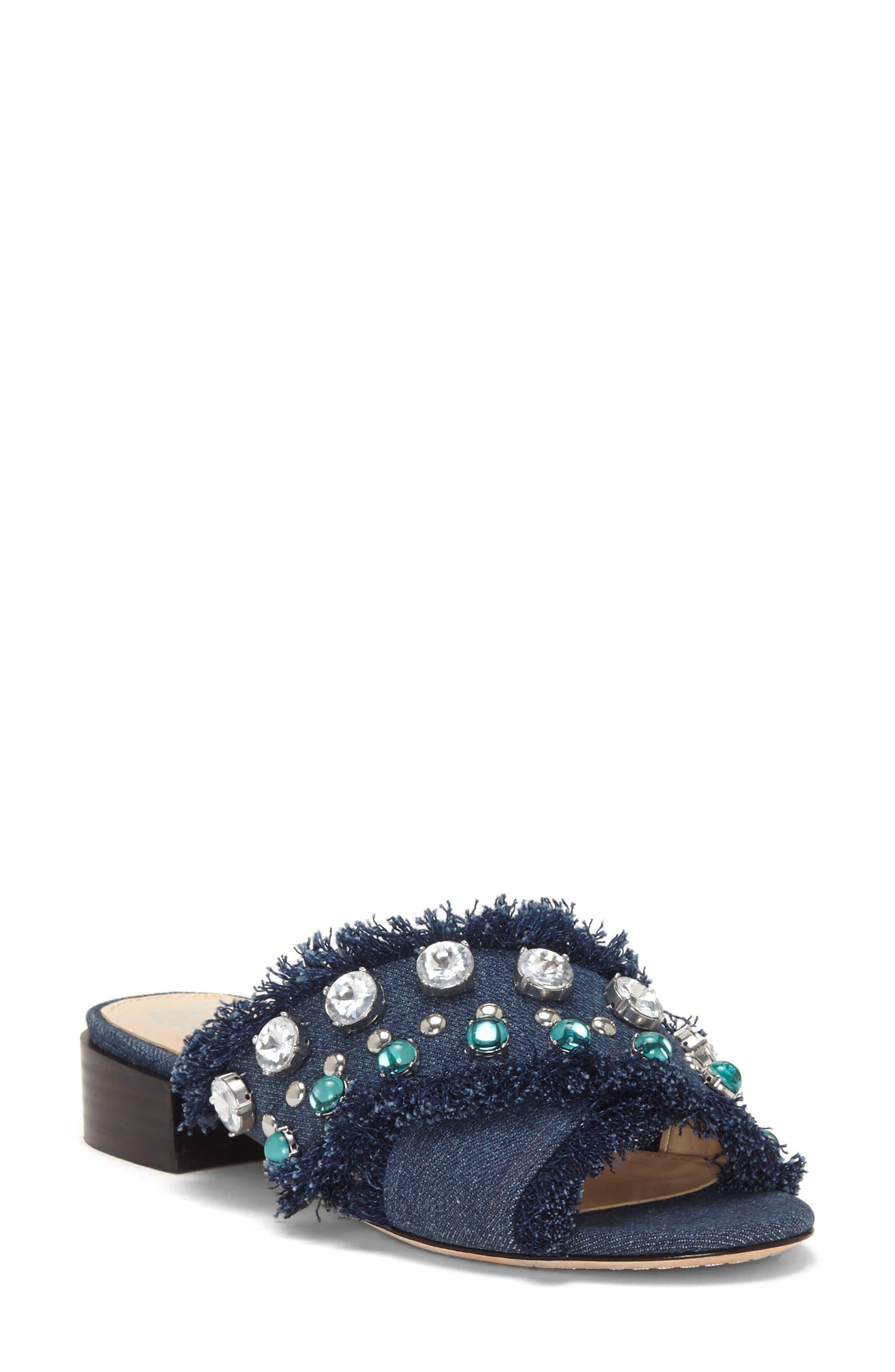 Noritta Slide Sandal,                         Main,                         color, Denim