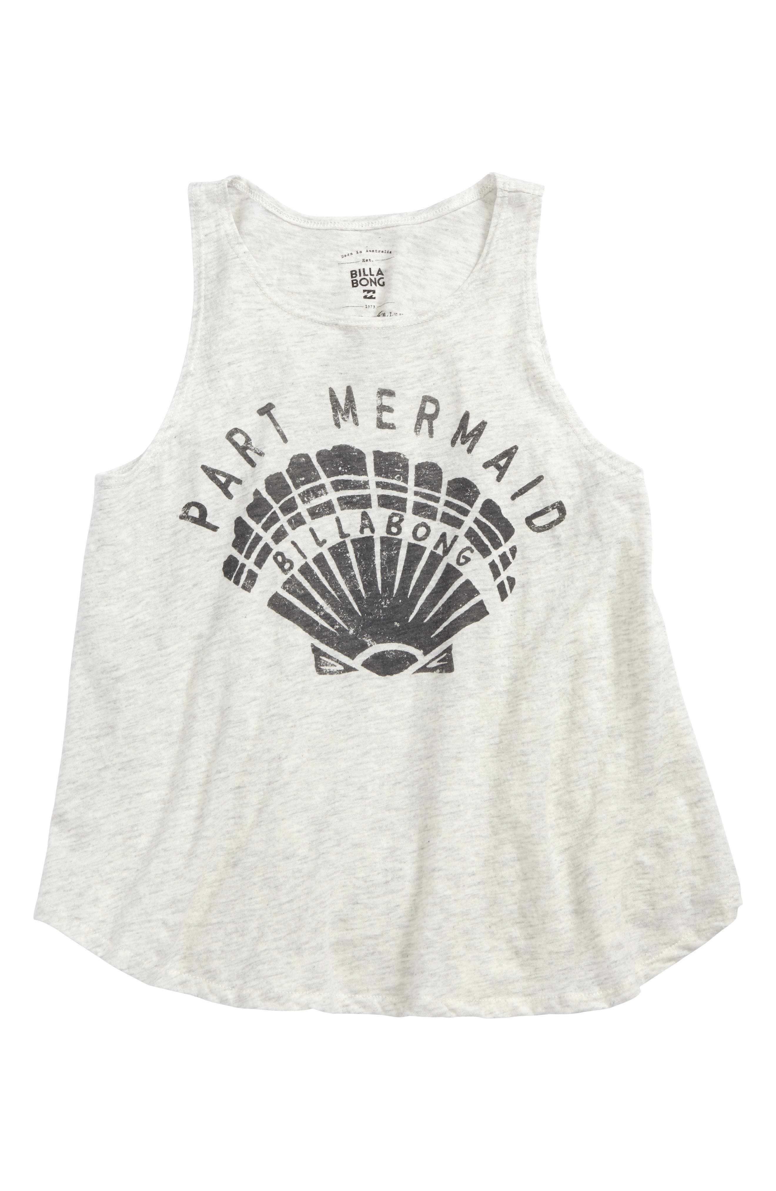 Part Mermaid Graphic Tee,                         Main,                         color, Ice Athletic Grey