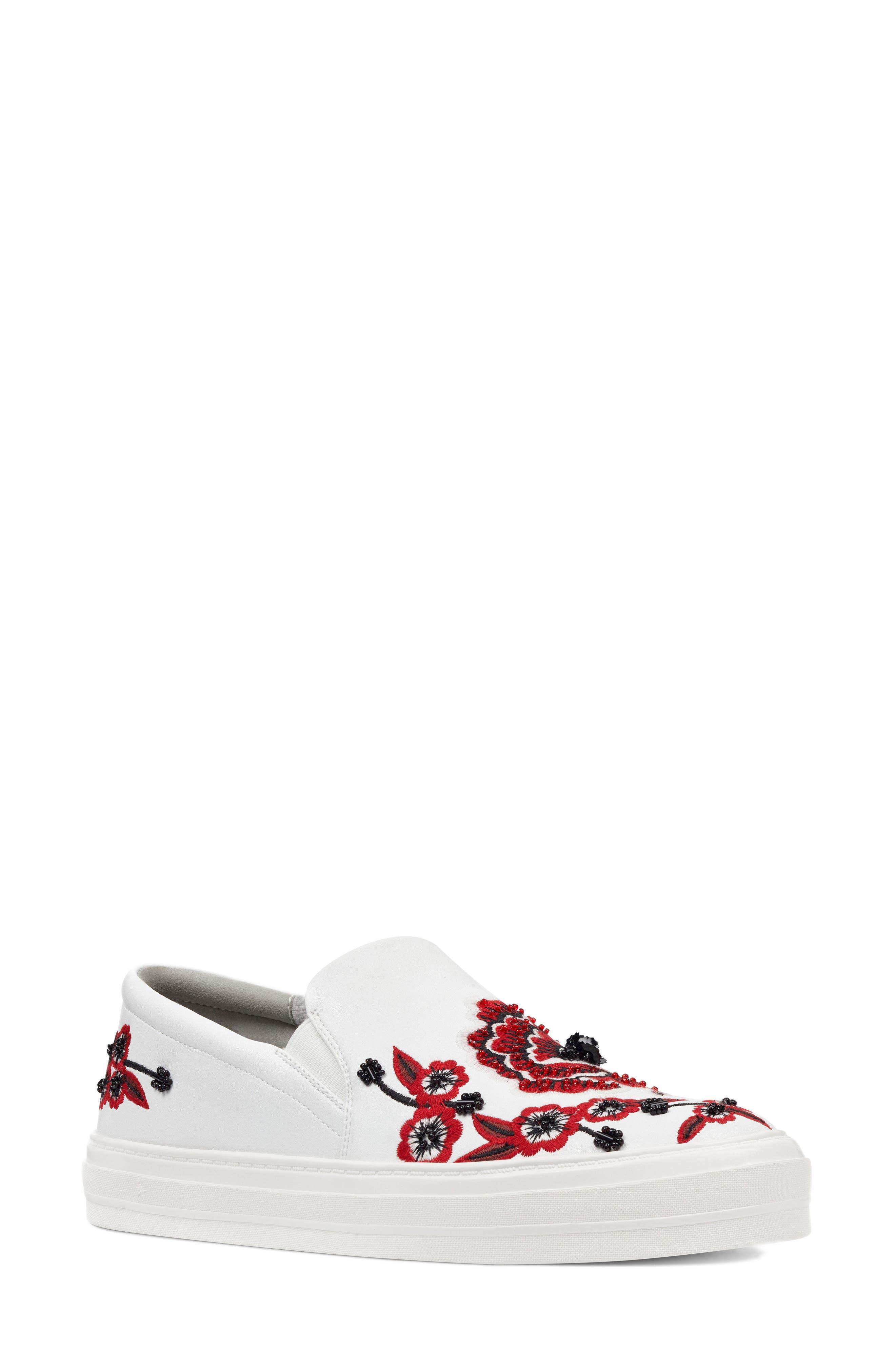Main Image - Nine West Onyeka Embroidered Slip-On Sneaker (Women)