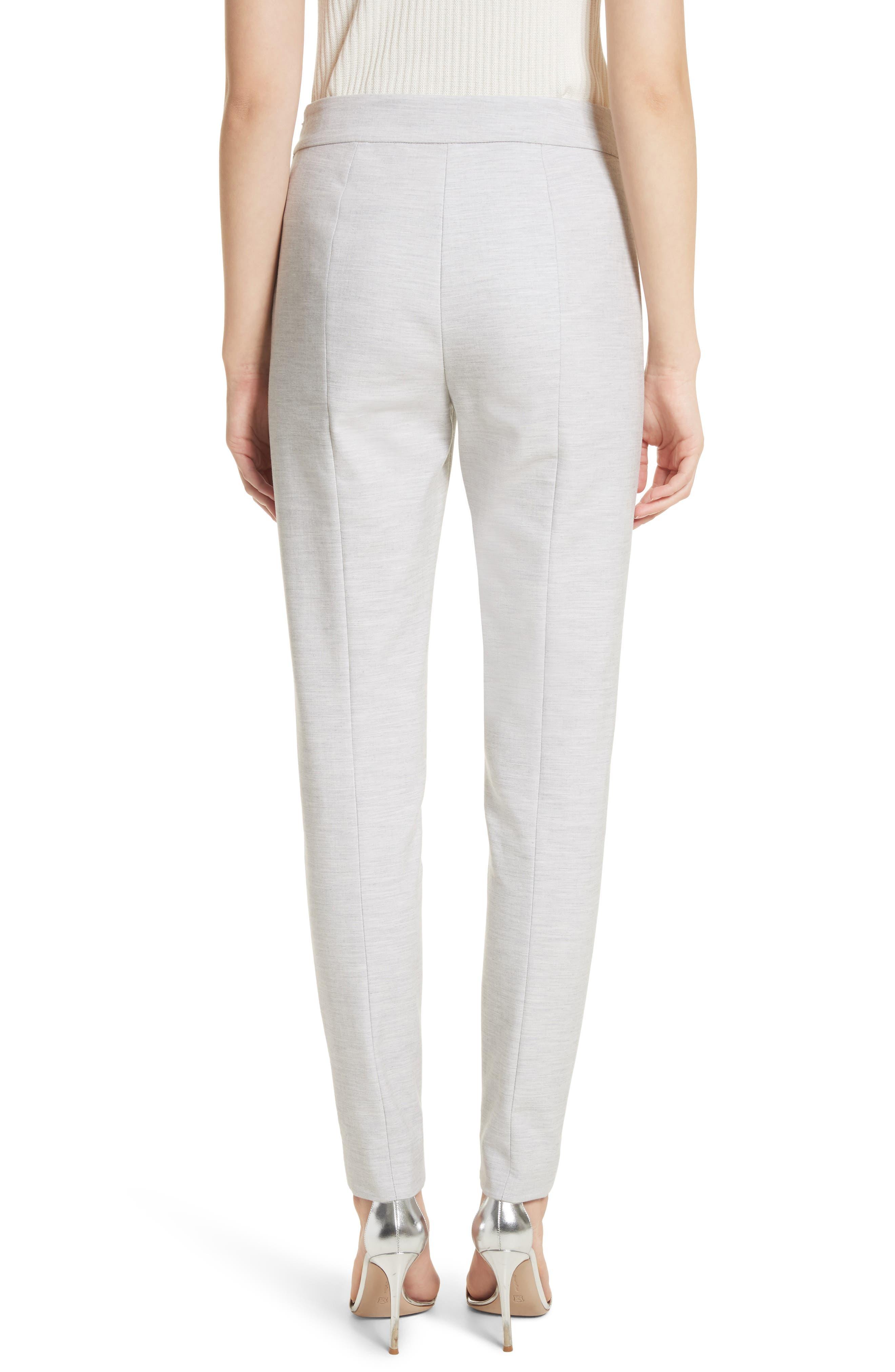 Summer Bella Double Weave Pants,                             Alternate thumbnail 7, color,                             Light Grey Melange