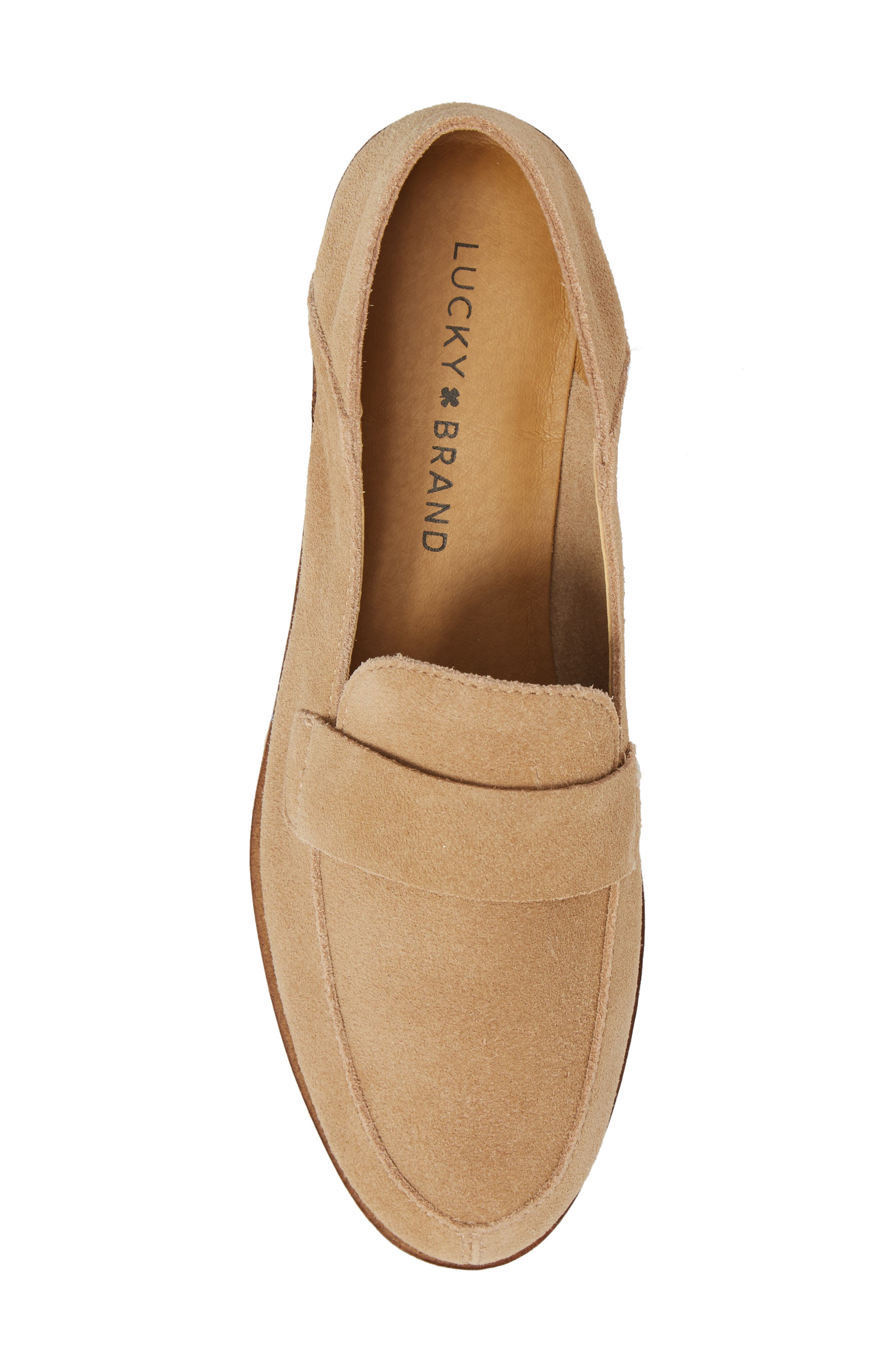 Chennie Loafer,                             Alternate thumbnail 5, color,                             Travertine Suede