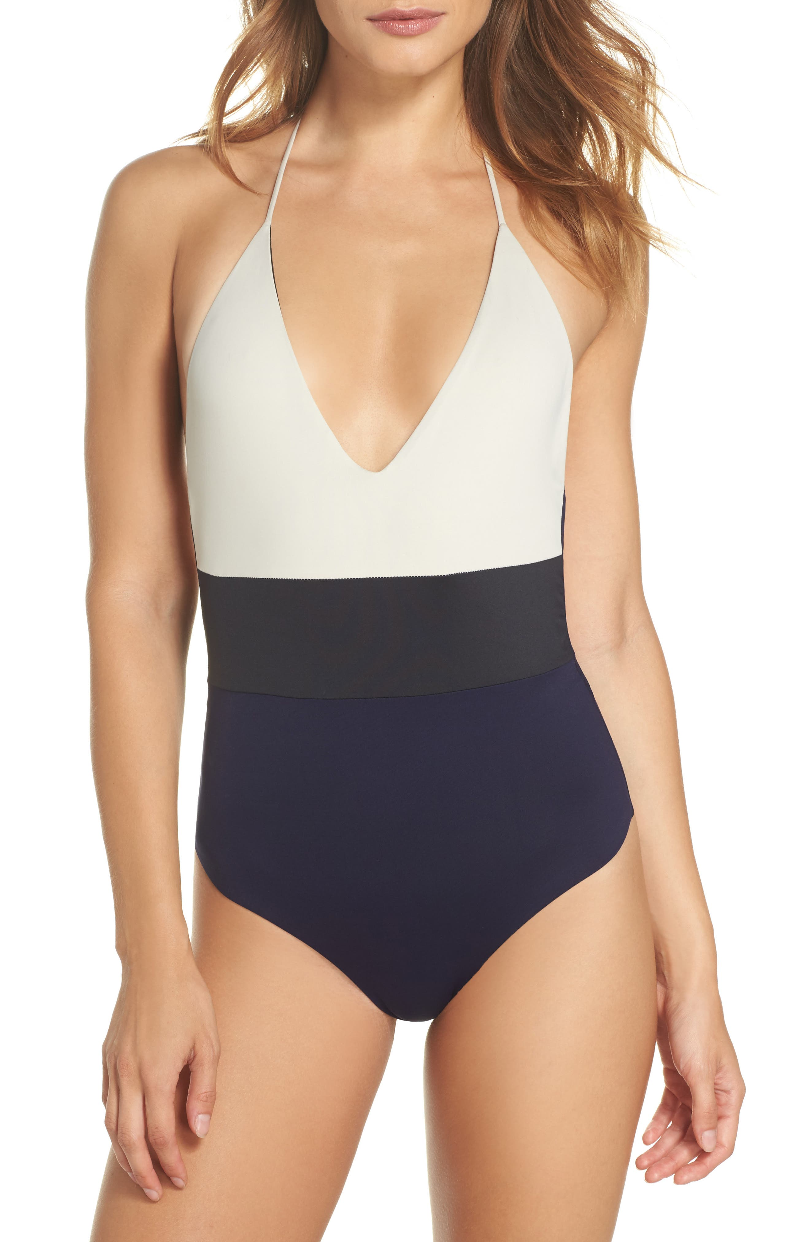 Chase One-Piece Swimsuit,                         Main,                         color, Evening Blue