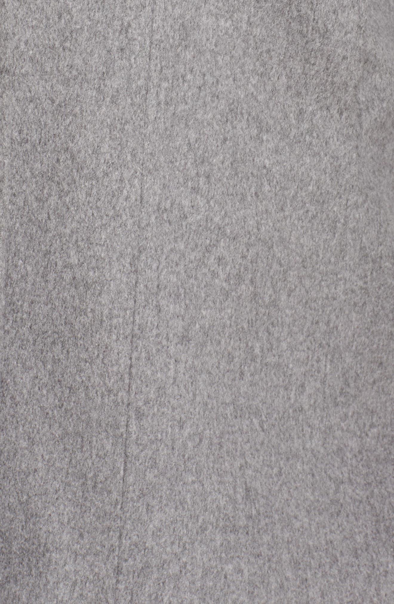Alternate Image 5  - Fleurette Wool Walking Coat (Plus Size)