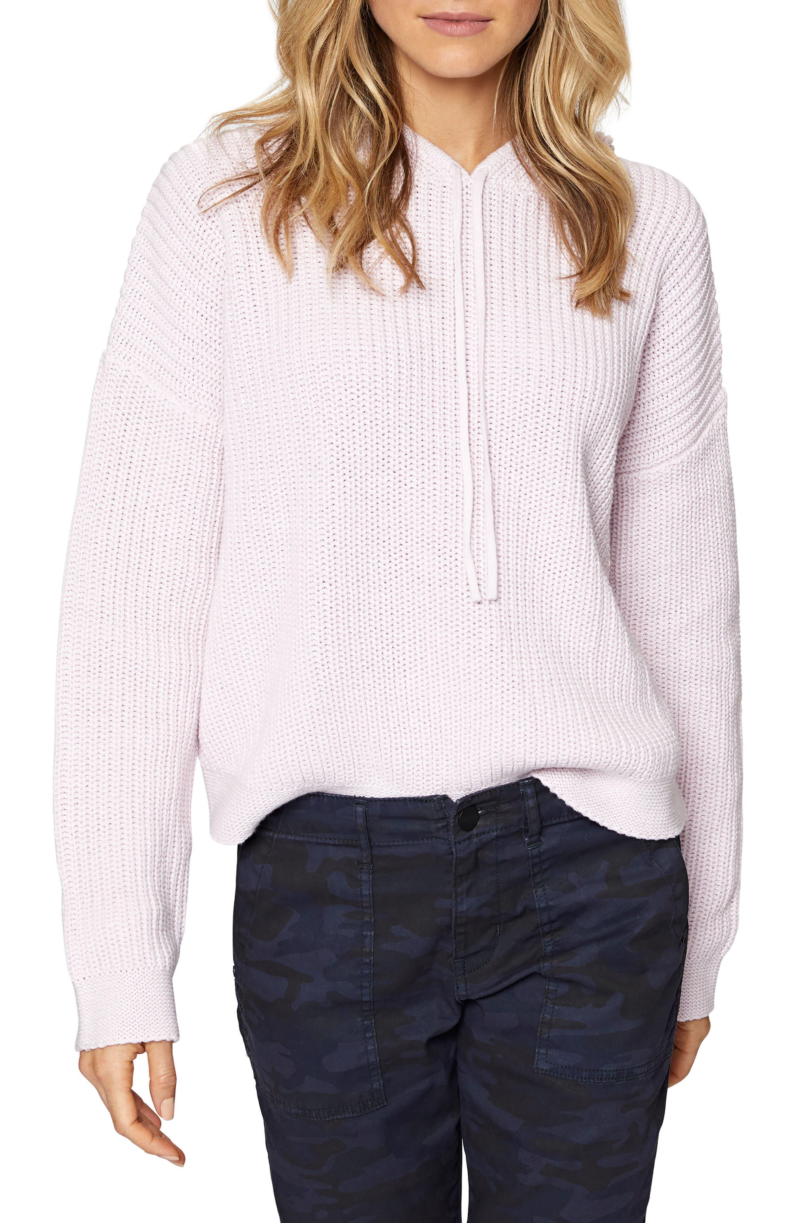 Harlowe Stripe Hoodie,                         Main,                         color, Heather Pink Whip