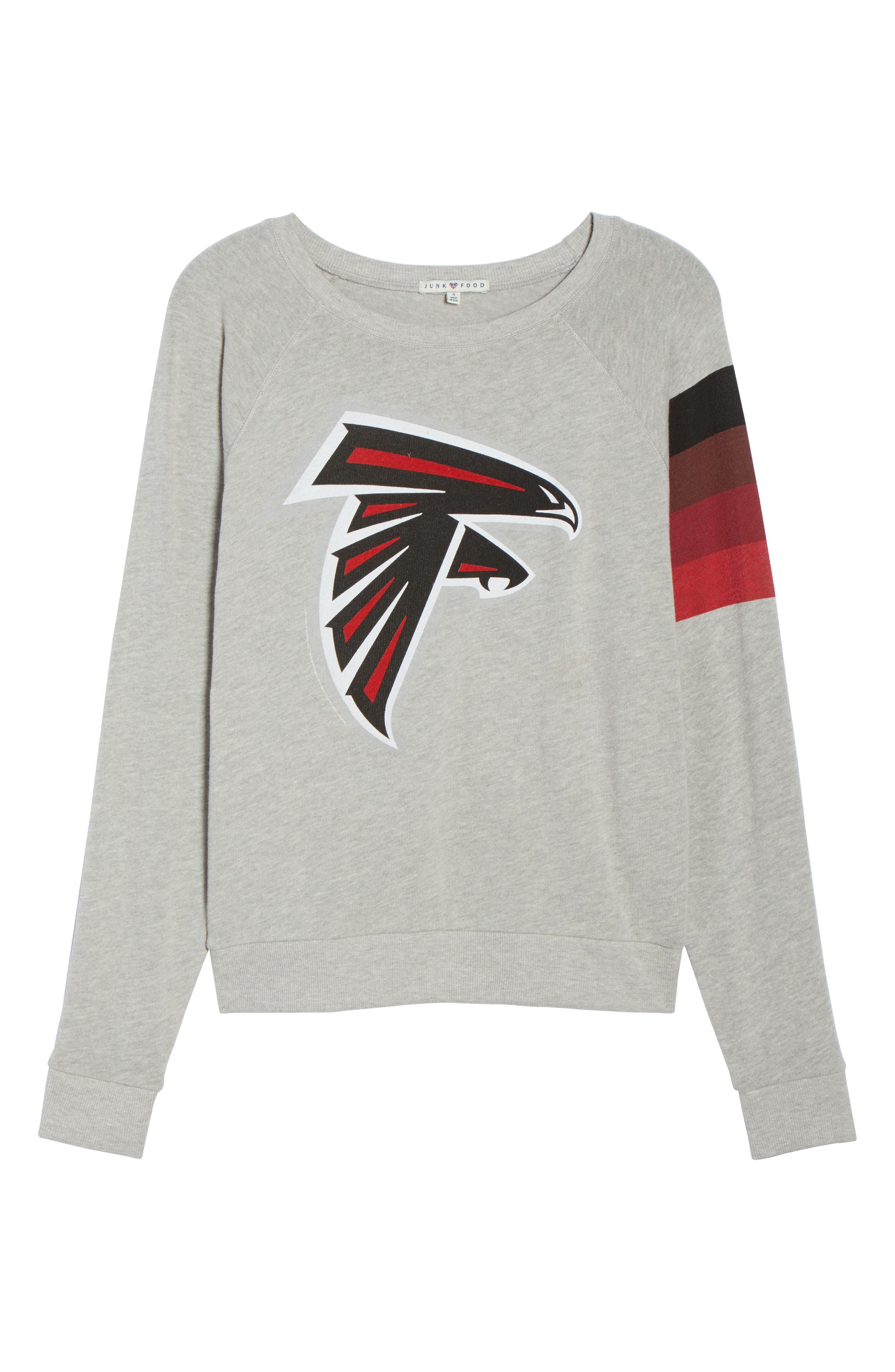 NFL Atlanta Falcons Hacci Sweatshirt,                             Alternate thumbnail 7, color,                             Dove Heather Grey