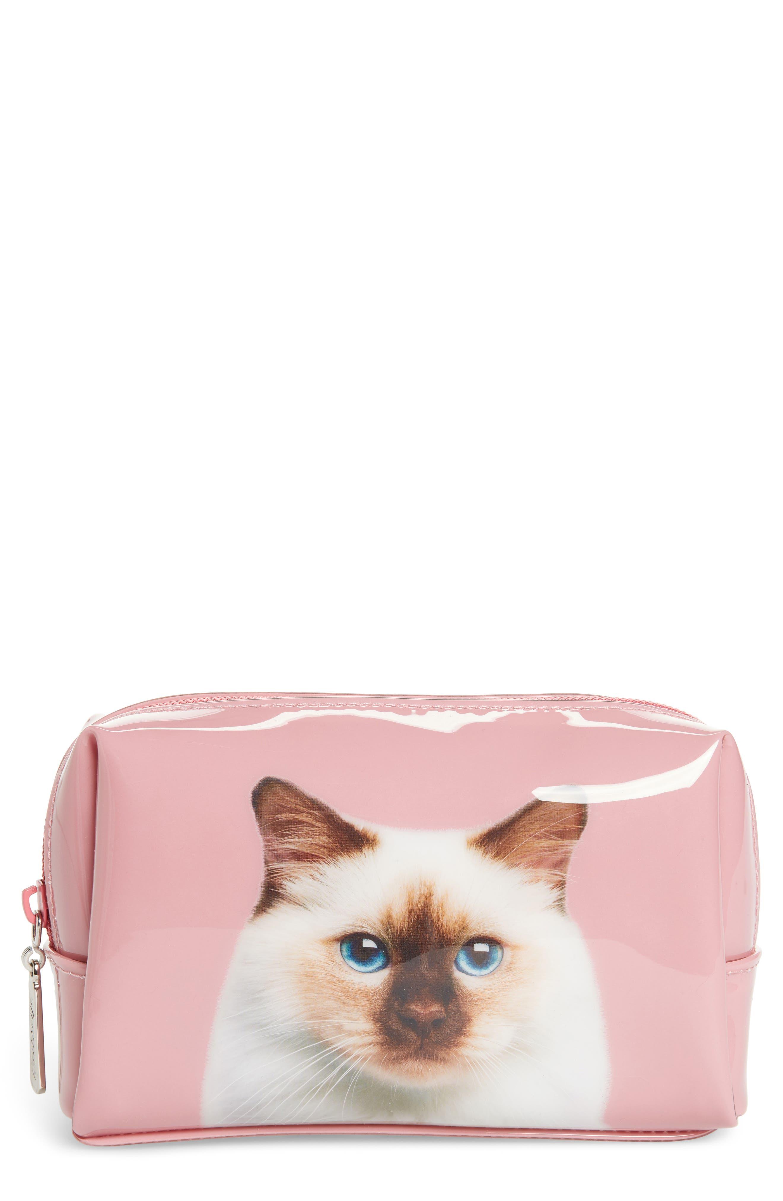 Catseye London Cat on Rose Cosmetics Case