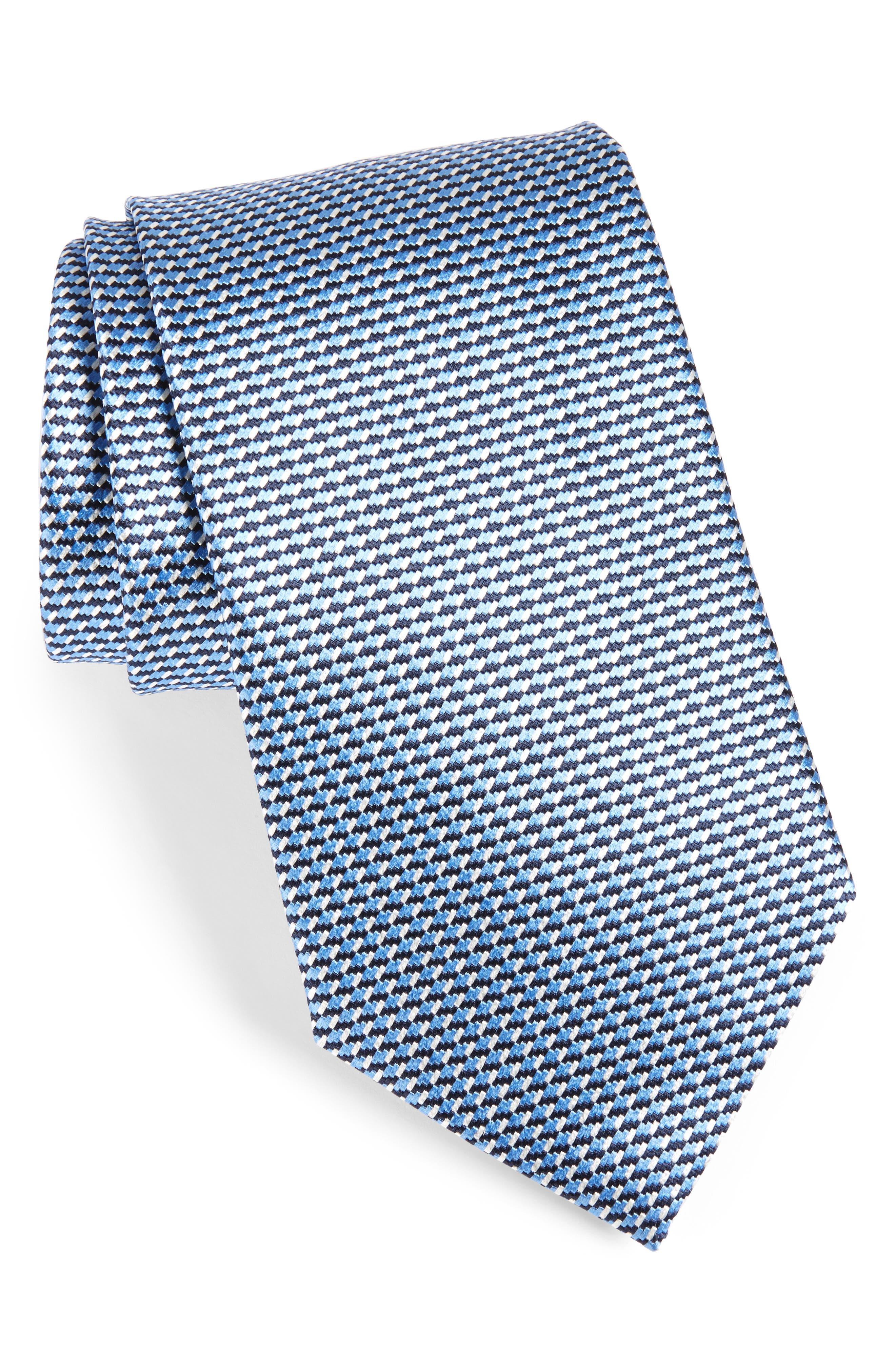 Main Image - Ermenegildo Zegna Geometric Silk Tie (X-Long)