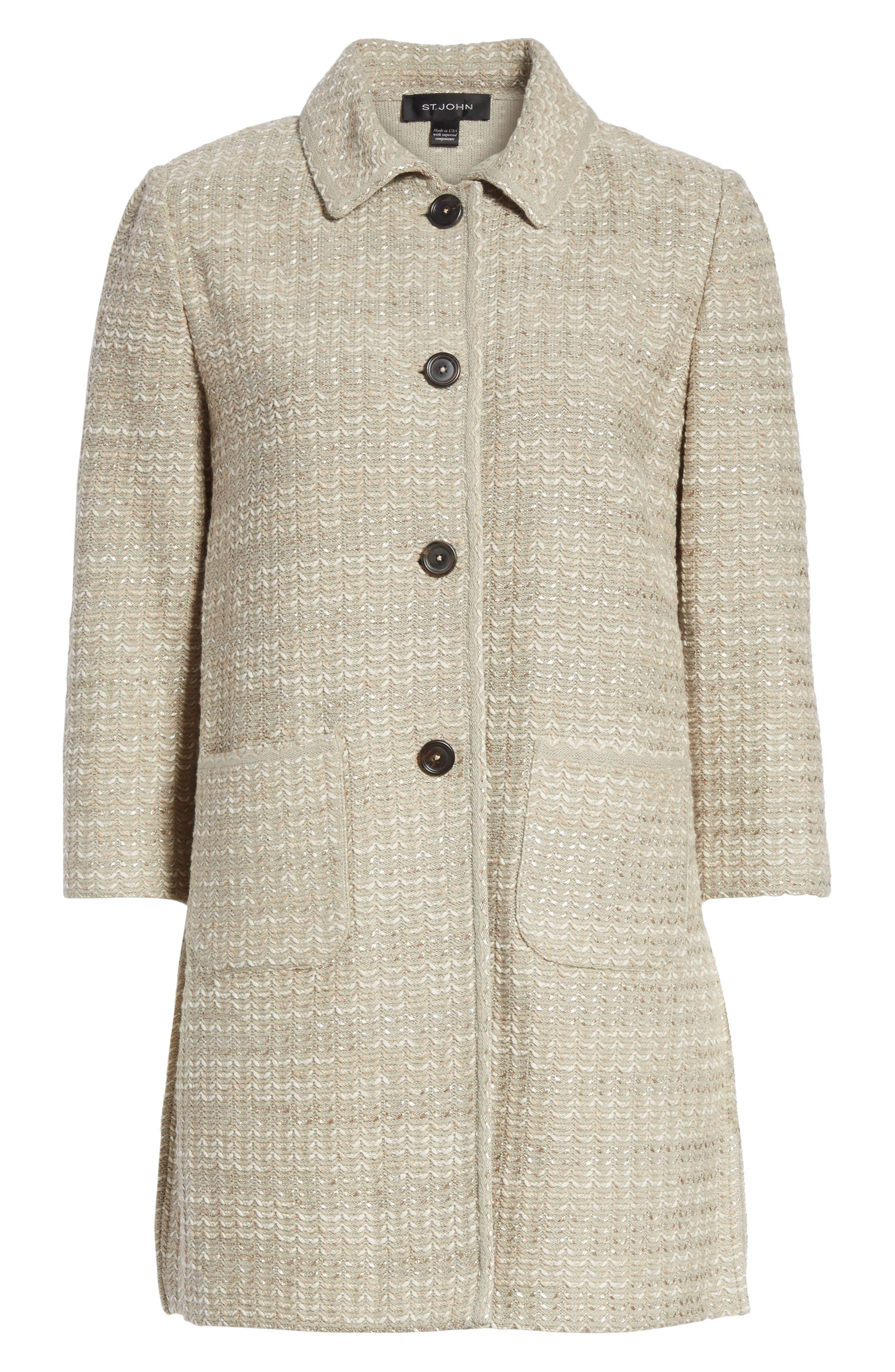 Alternate Image 6  - St. John Collection Chevron Knit Shantung Jacket