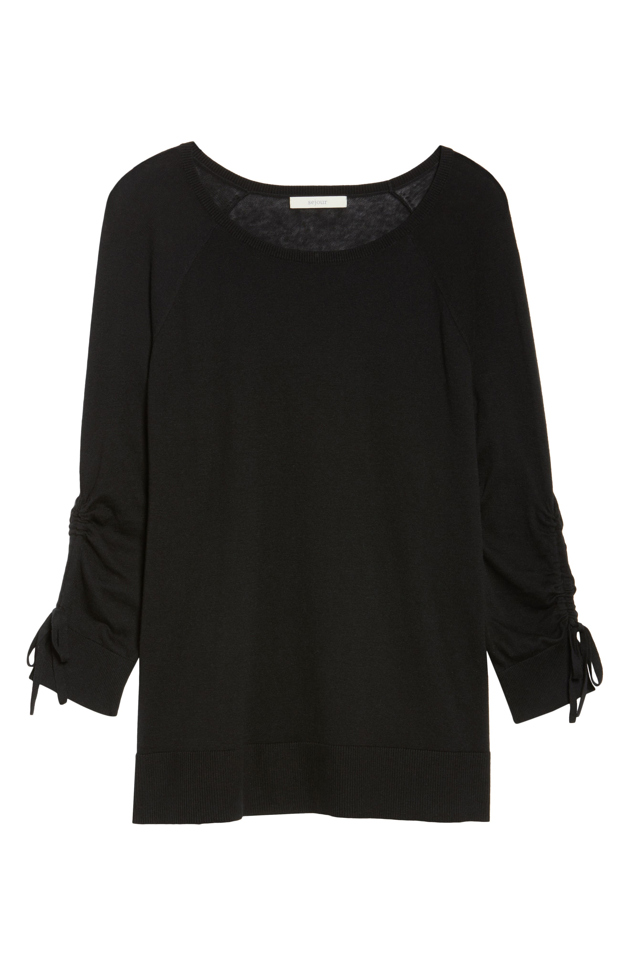 Sejour Drawstring Sleeve Sweater (Plus Size)