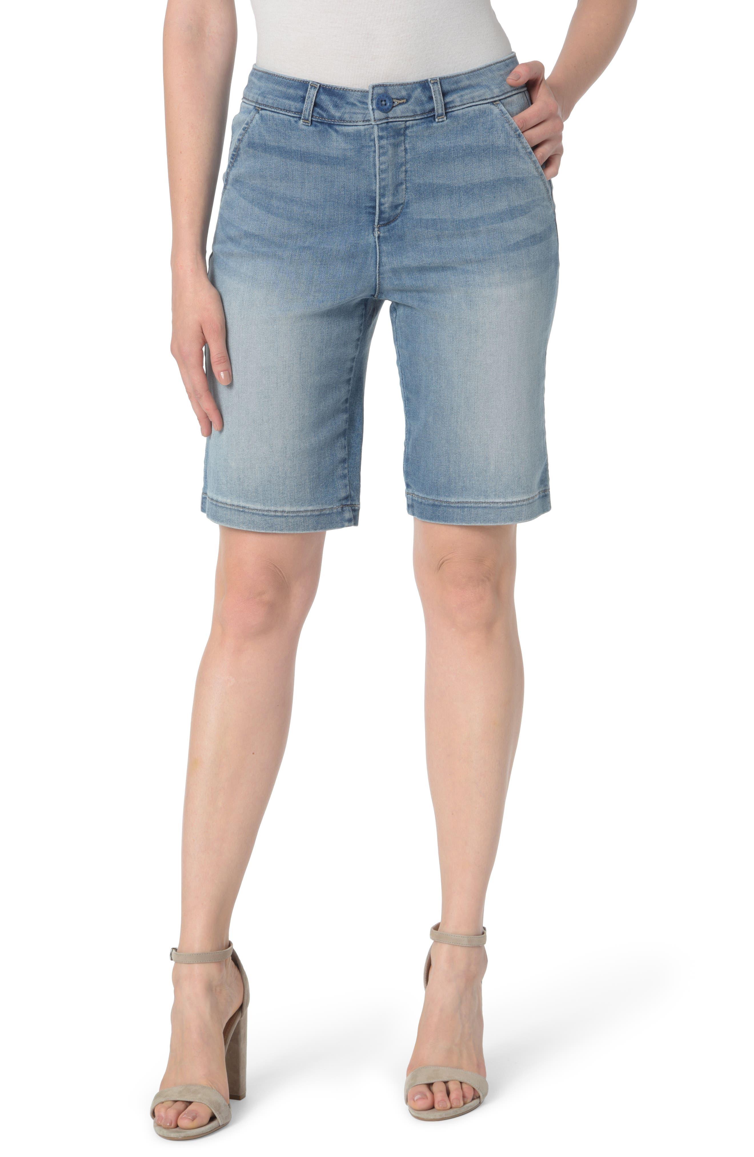Alternate Image 1 Selected - NYDJ Marilyn Stretch Denim Bermuda Shorts