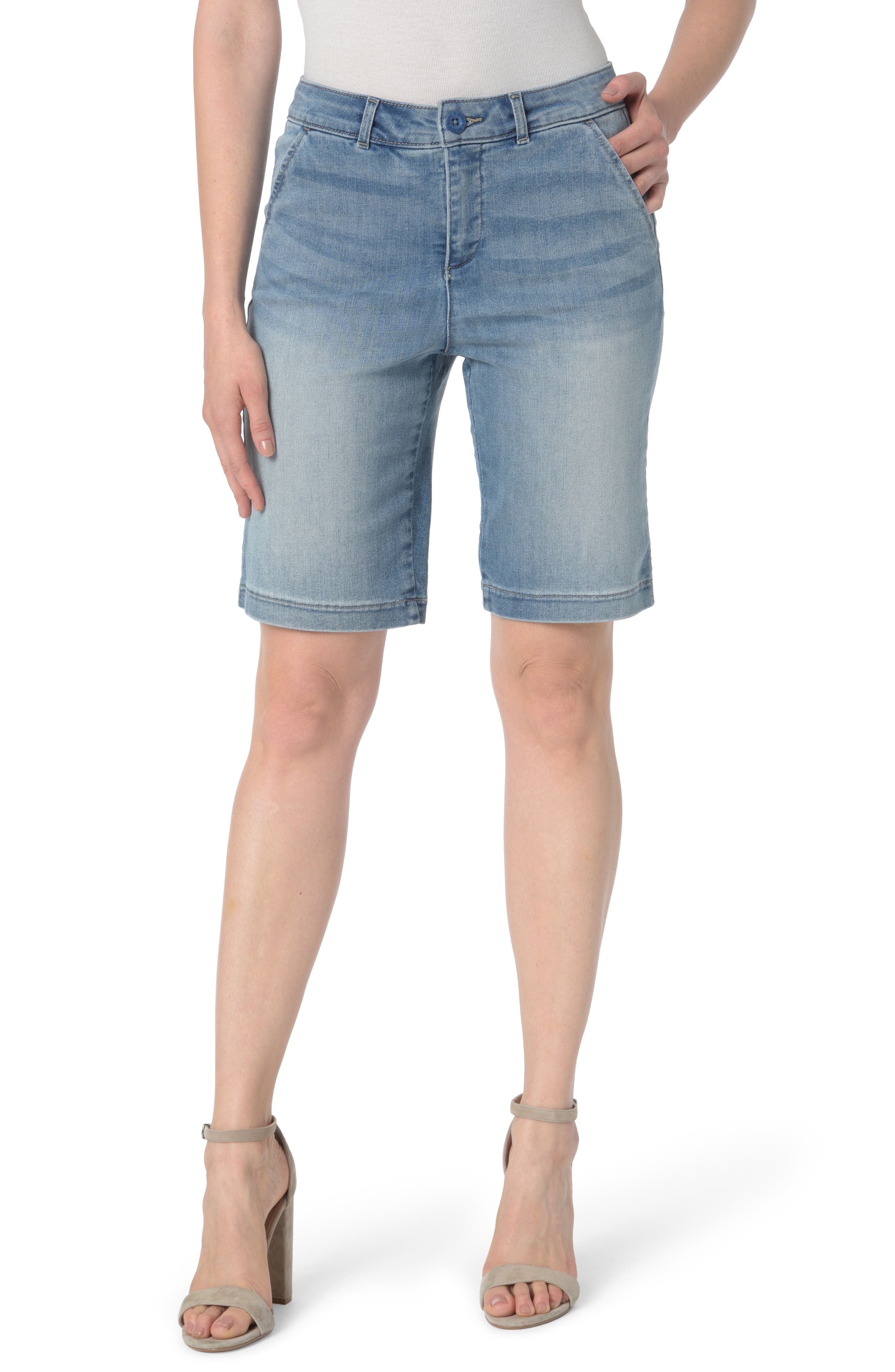 Main Image - NYDJ Marilyn Stretch Denim Bermuda Shorts