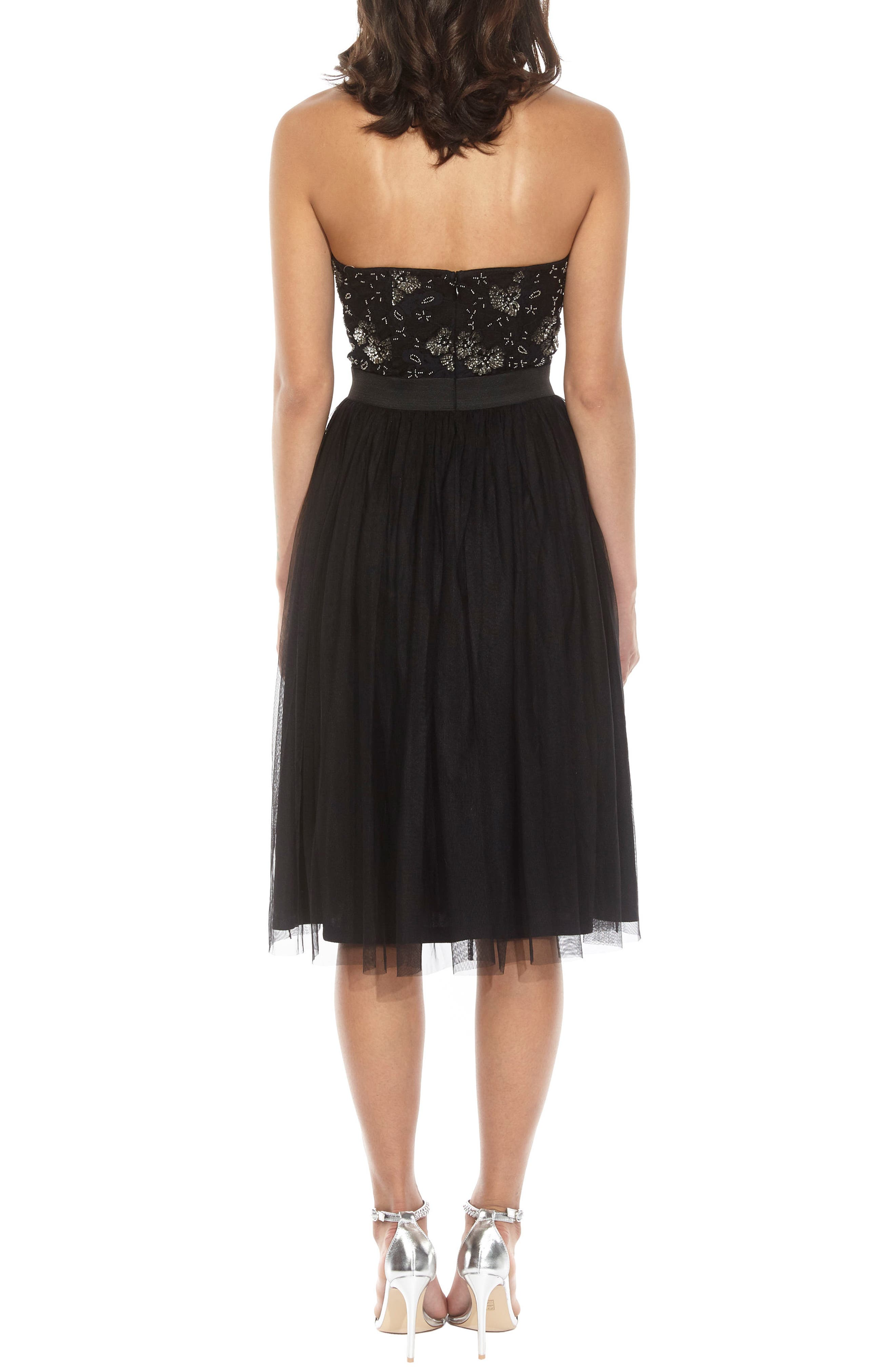 Alternate Image 2  - Lace & Beads Mika Embellished Strapless Dress