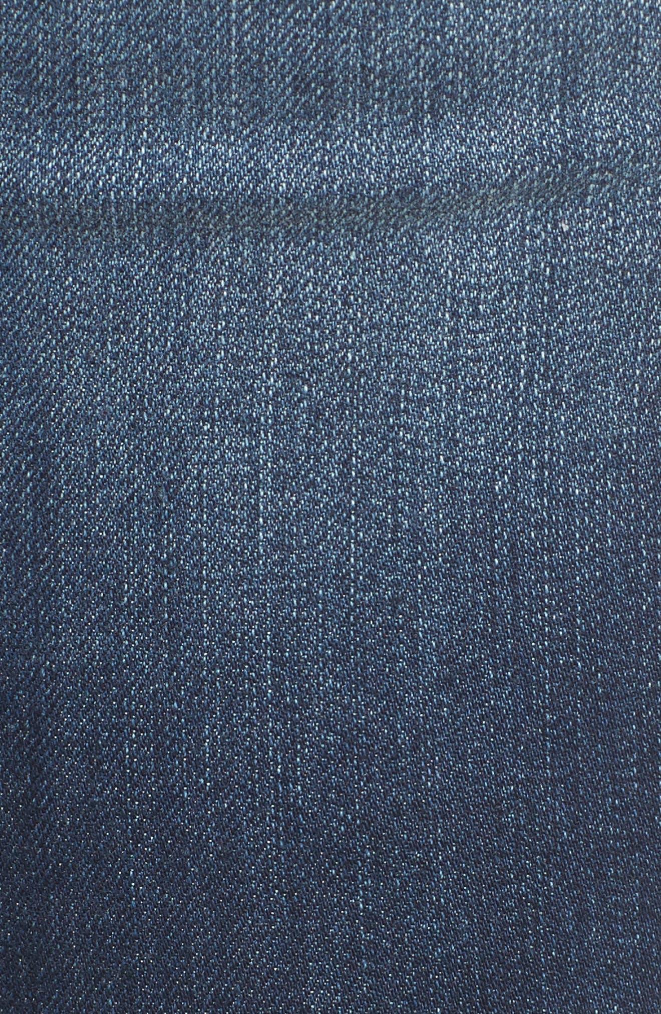 Alternate Image 4  - 1822 Denim Step Hem Skinny Jeans (Eleni)