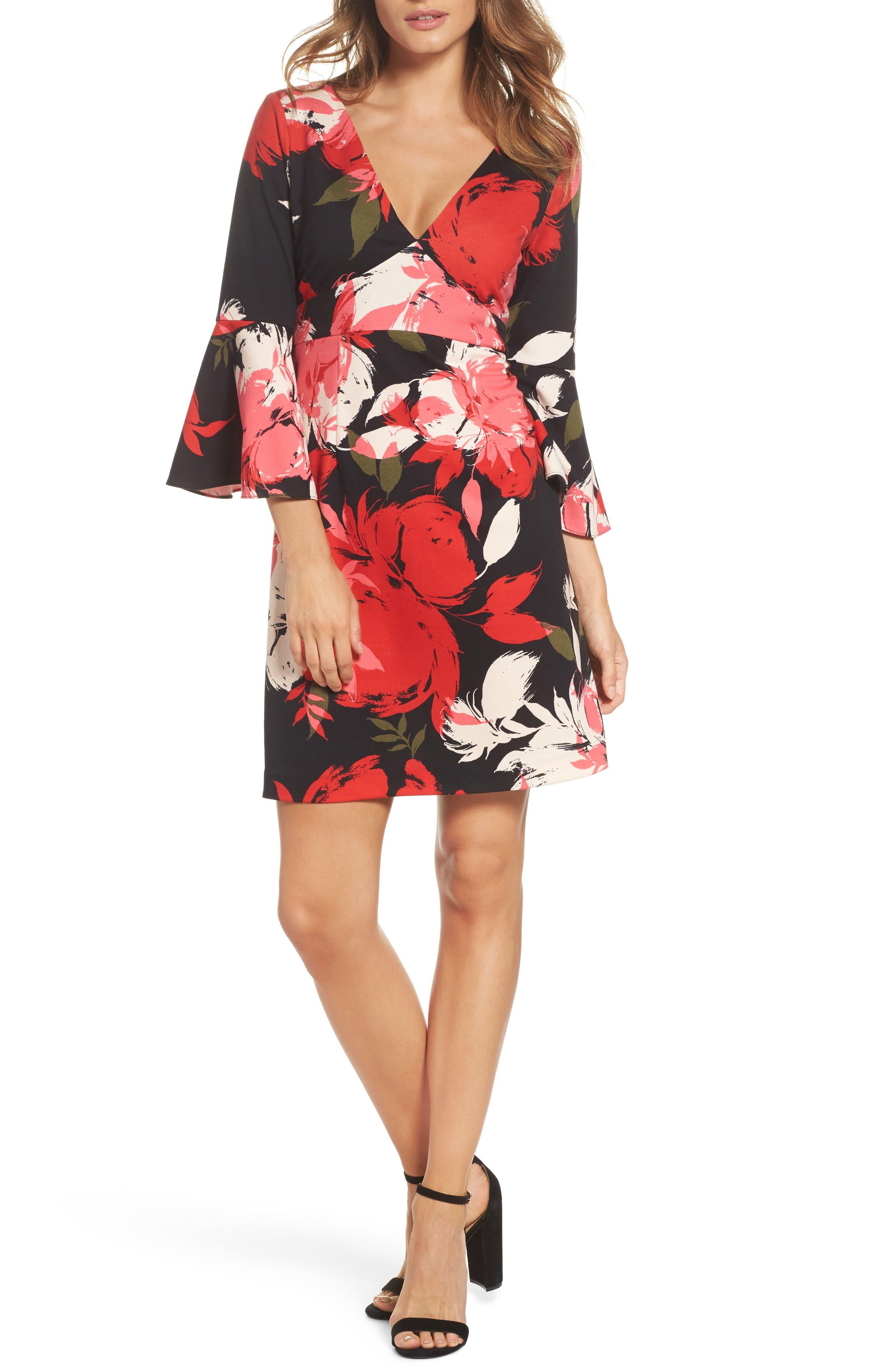 Sena A-Line Dress,                             Main thumbnail 1, color,                             Multi