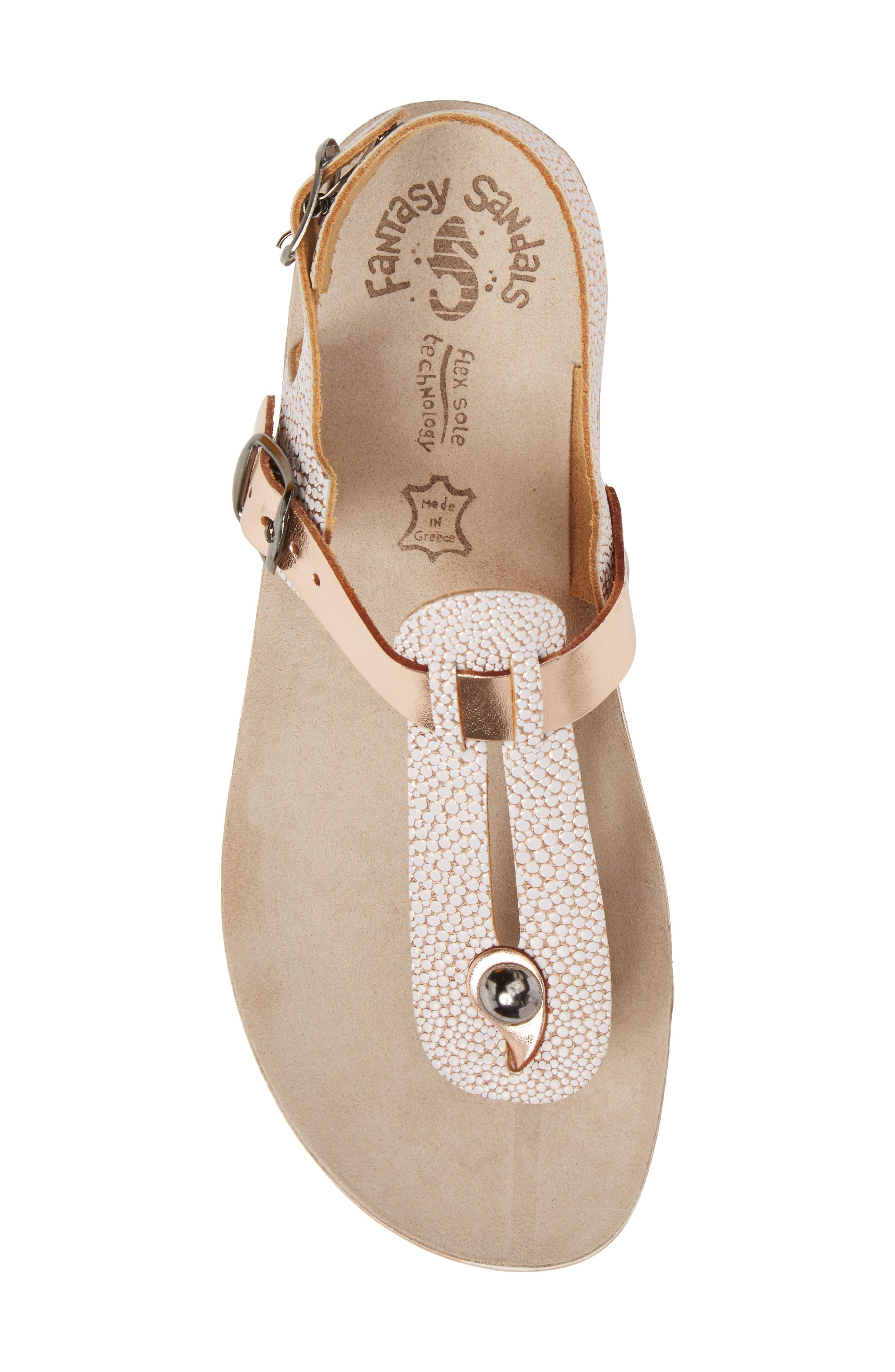 Marlena Fantasy Sandal,                             Alternate thumbnail 5, color,                             Rose Gold Leather