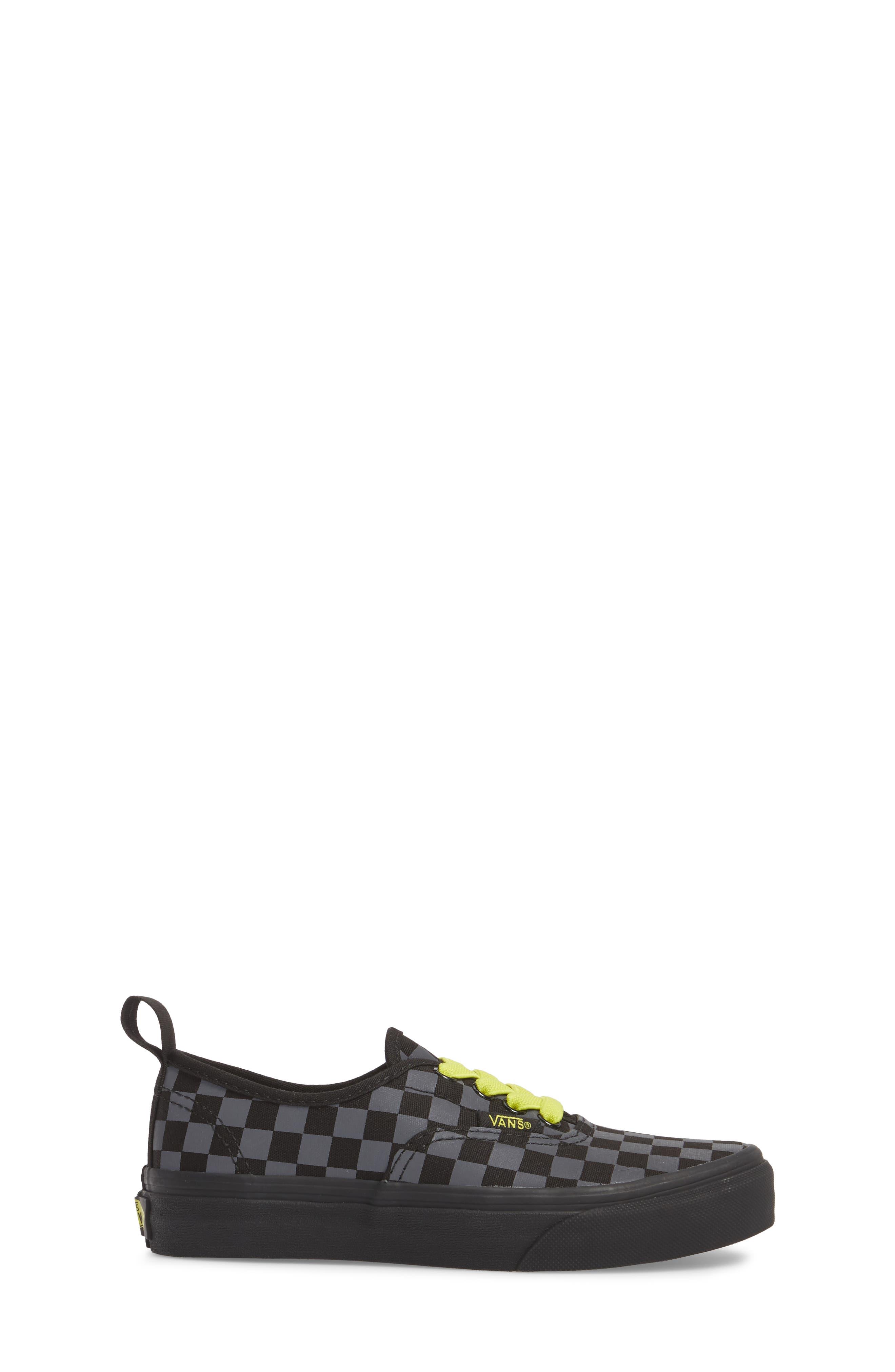 Reflective Checkerboard Authentic Sneaker,                             Alternate thumbnail 3, color,                             Asphalt/ Reflective