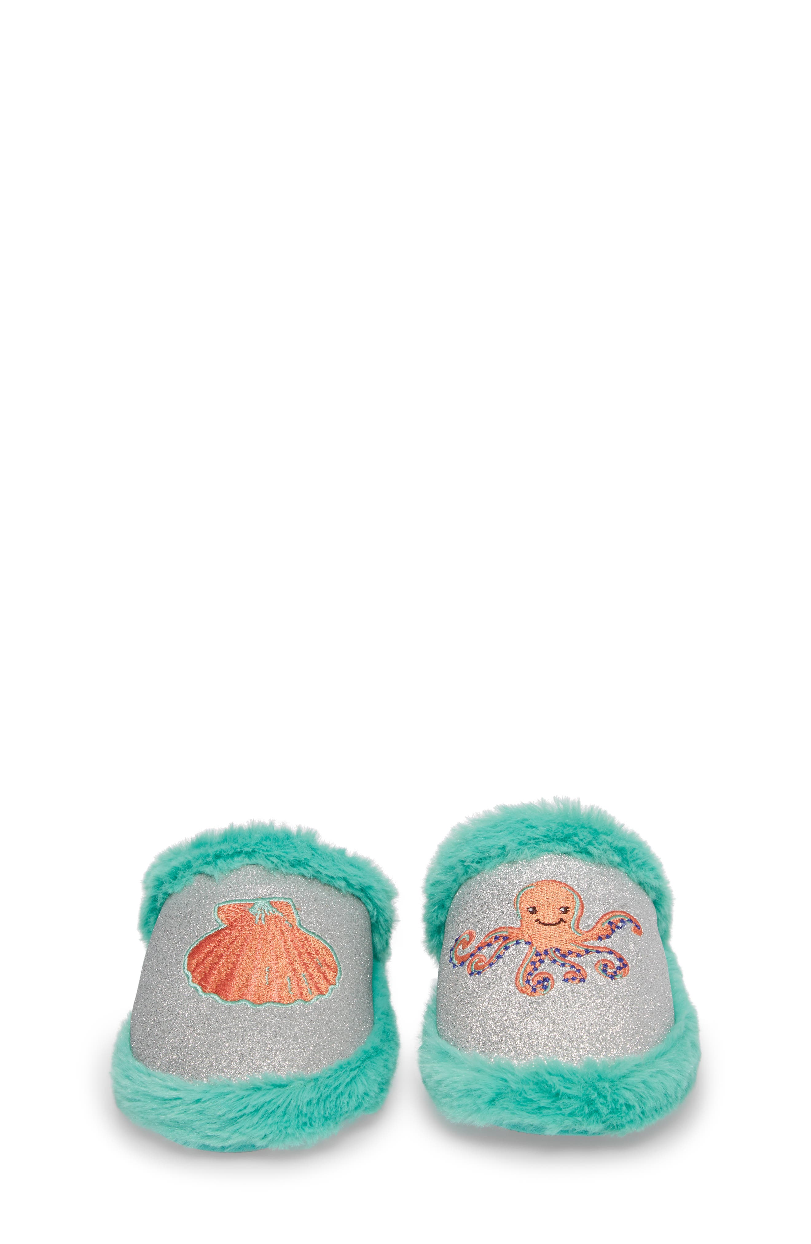 Alternate Image 4  - WellieWishers from American Girl Camille Faux Fur Glitter Slipper (Toddler, Little Kid & Big Kid)
