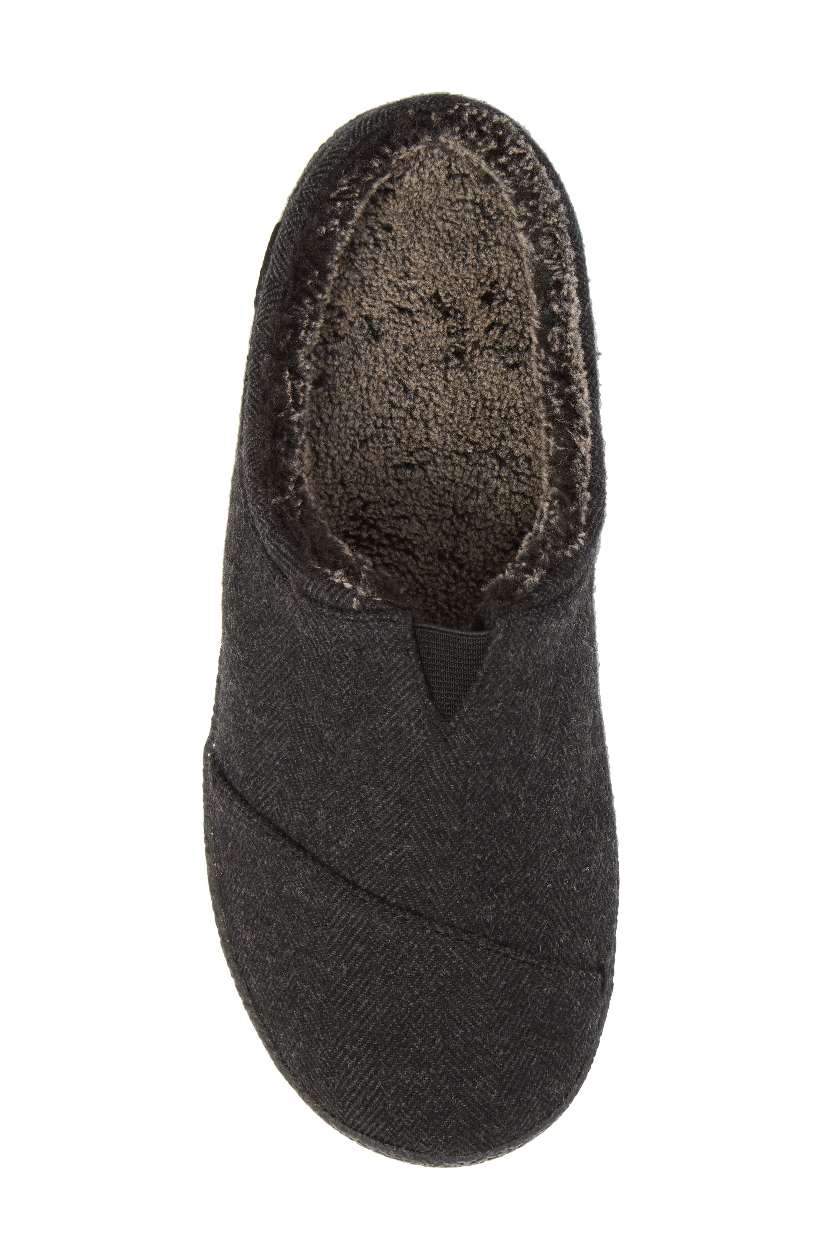 Berkeley Slipper with Faux Fur Lining,                             Alternate thumbnail 5, color,                             Black