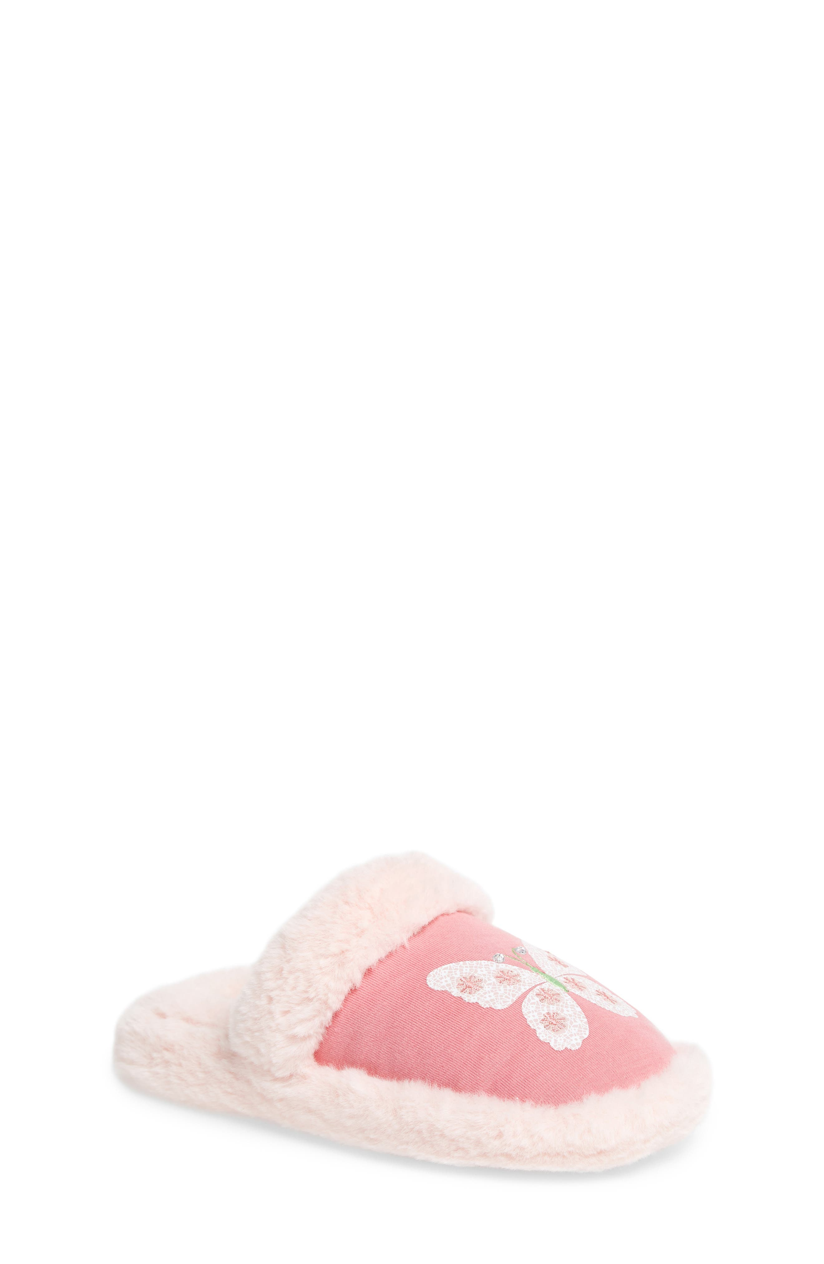 Main Image - WellieWishers from American Girl Ashlyn Faux Fur Slipper (Toddler, Little Kid & Big Kid)