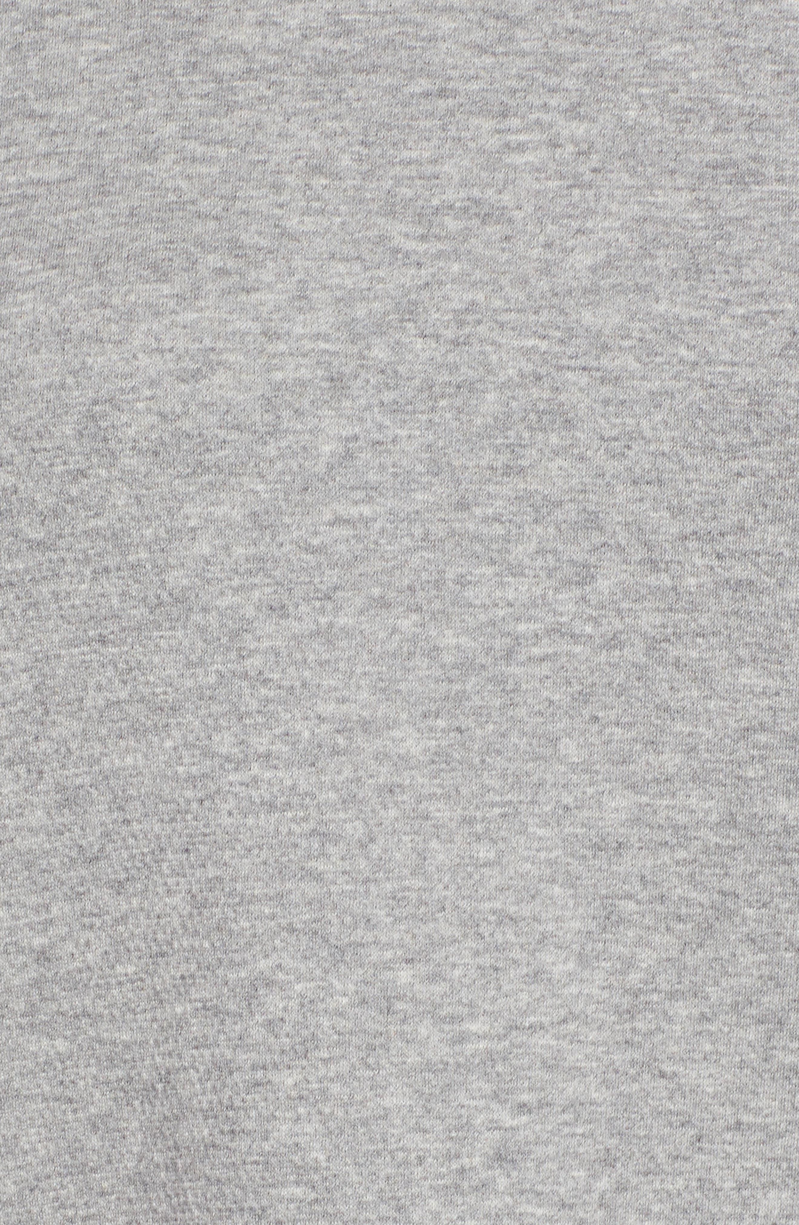 Double Knit Organic Cotton Tunic,                             Alternate thumbnail 5, color,                             Dark Pearl