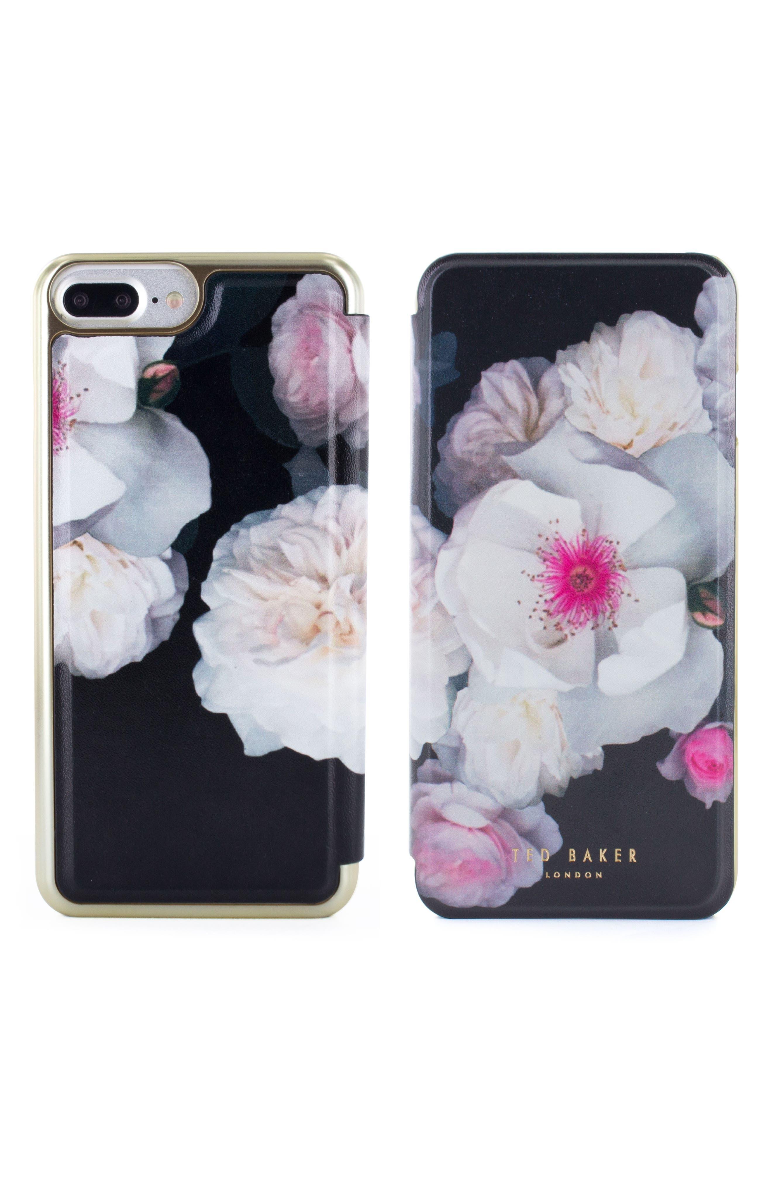 Chelsea iPhone 6/6s/7/8 & 6/6s/7/8 Plus Mirror Folio Case,                             Alternate thumbnail 3, color,                             Chelsea Black