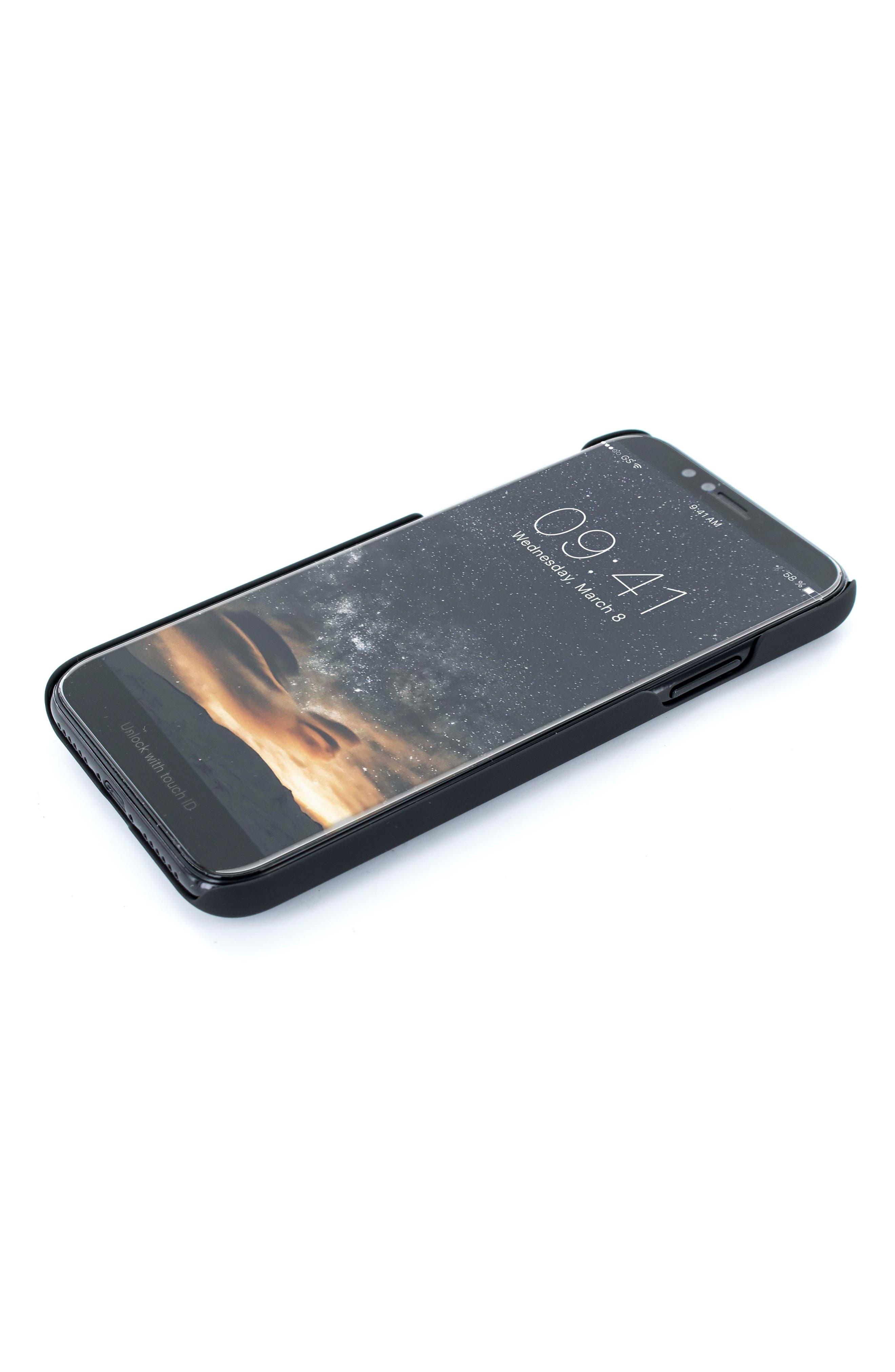 iPhone X Case,                             Alternate thumbnail 5, color,                             Black