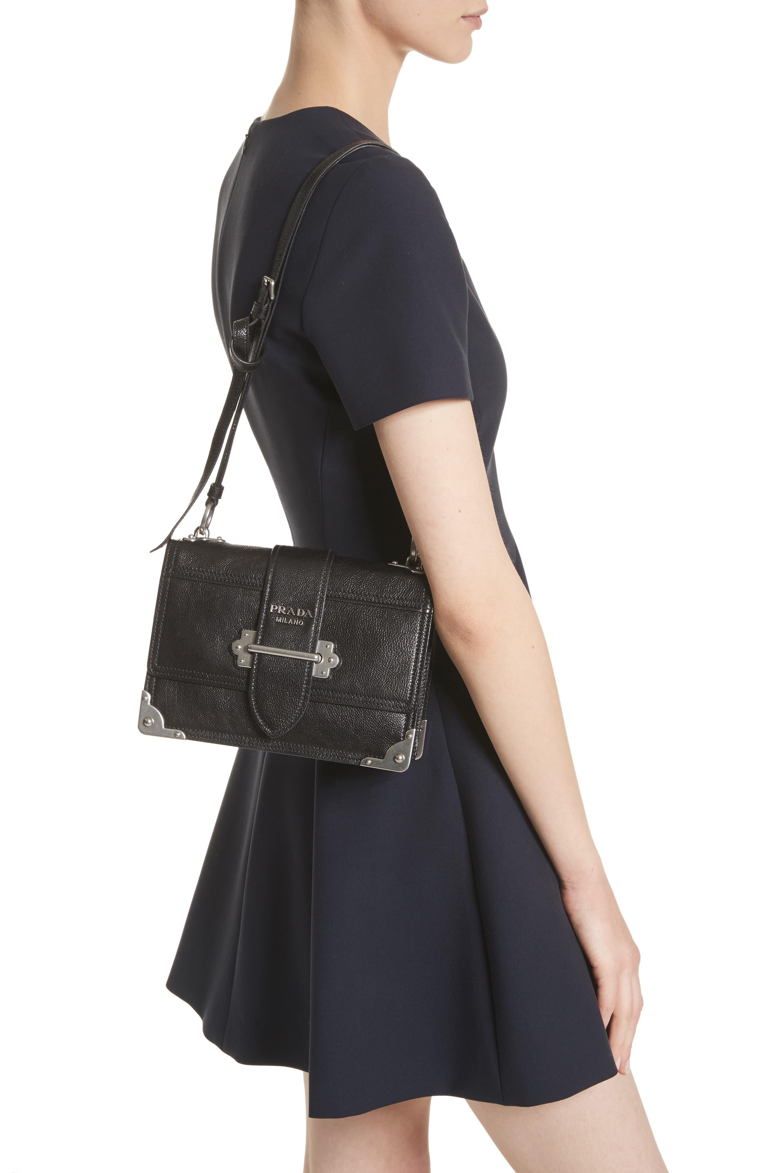 Alternate Image 2  - Prada Cahier Glace Calfskin Convertible Shoulder Bag
