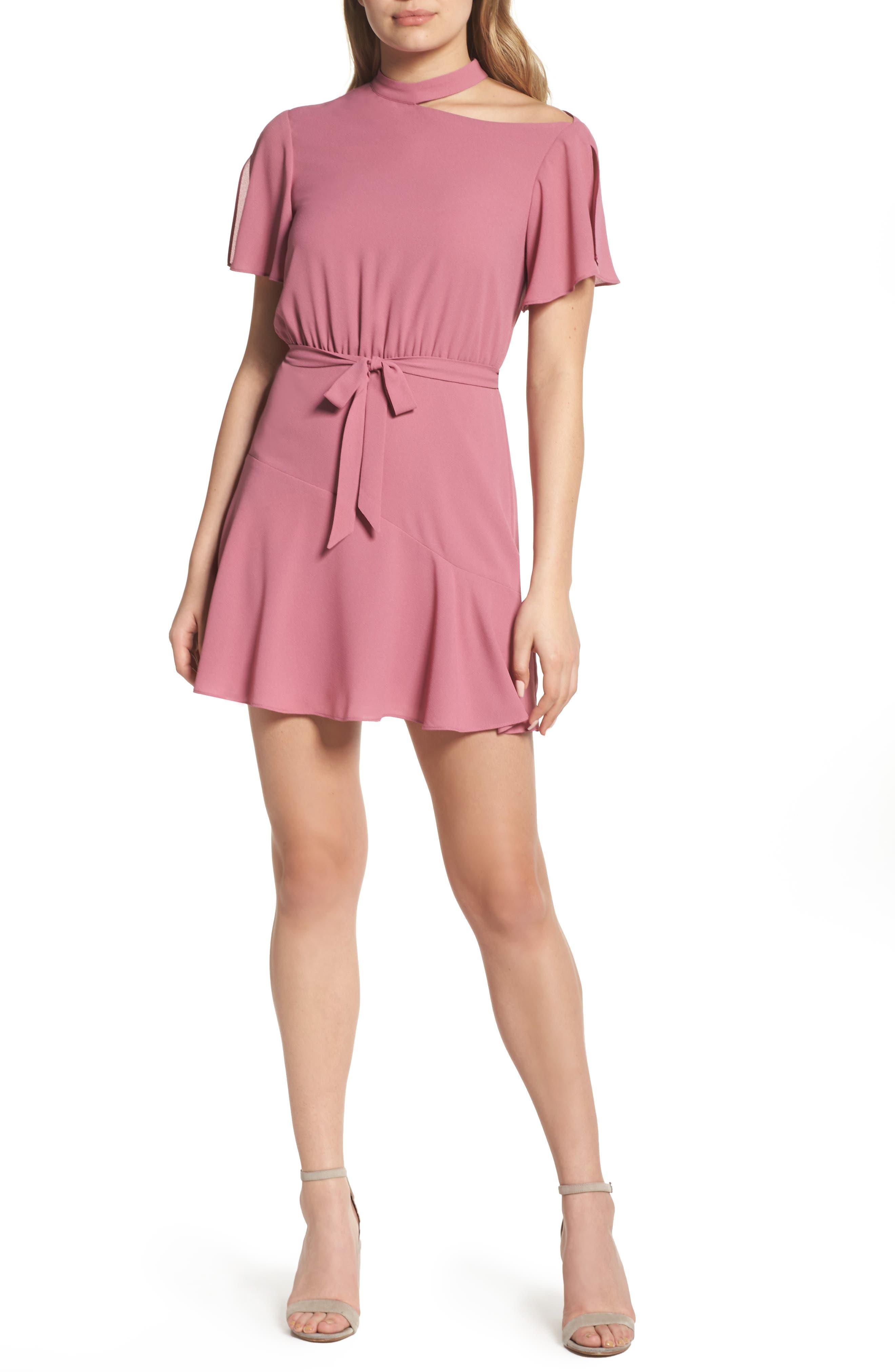 Ill Fated Romance Minidress,                         Main,                         color, Peony