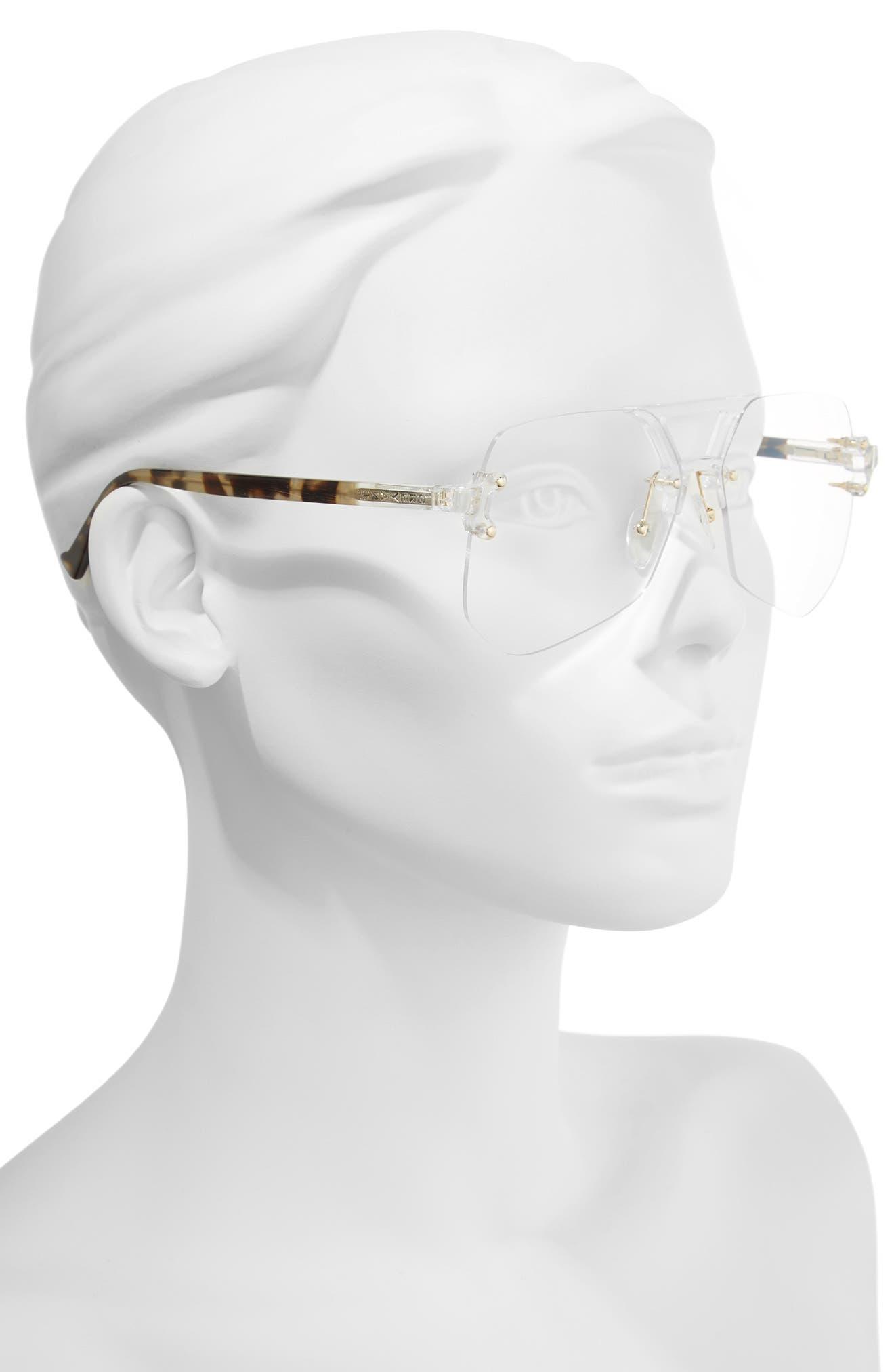 Yesway 60mm Optical Glasses,                             Alternate thumbnail 2, color,                             Gold / Tortoise