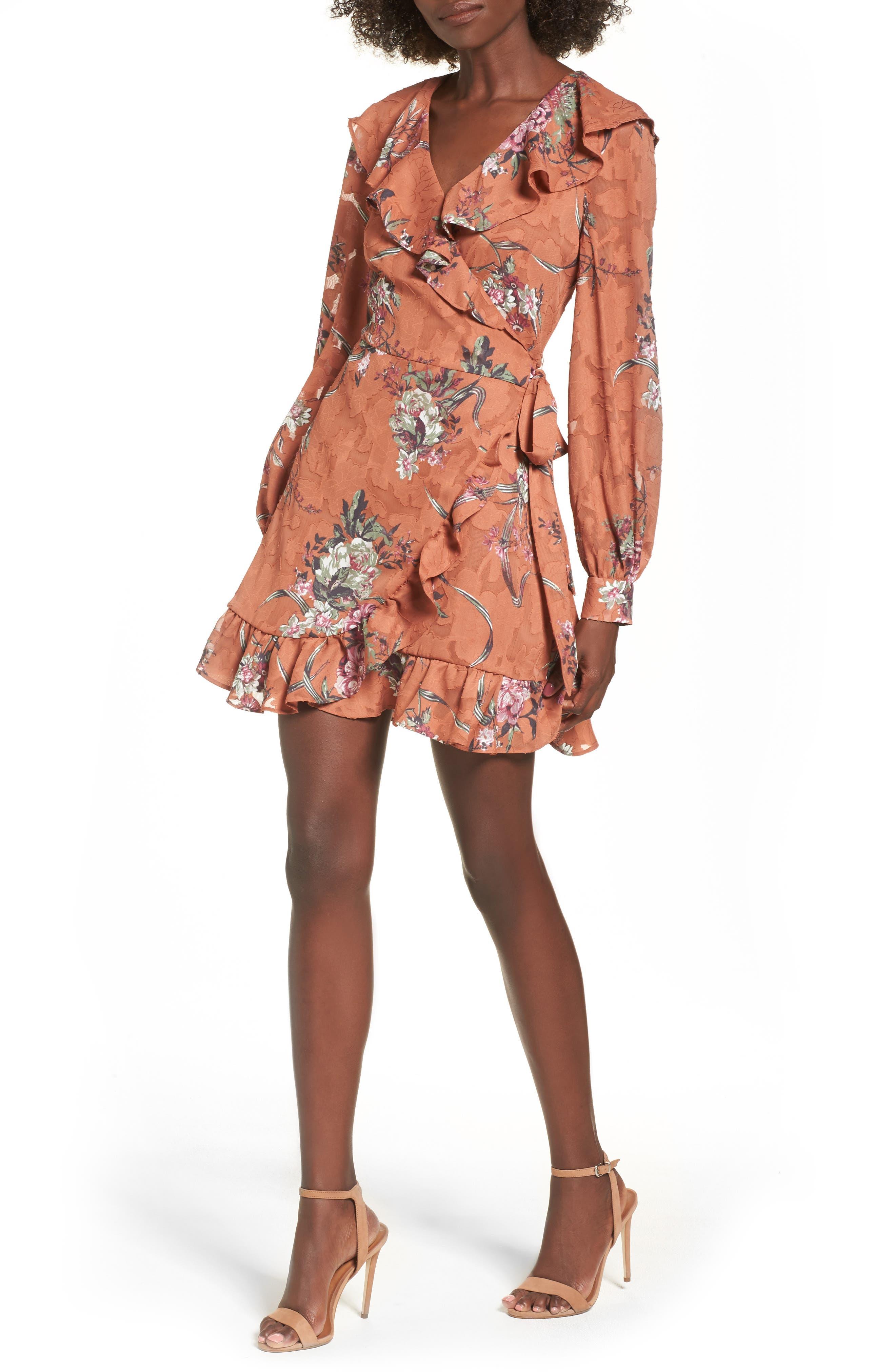 Leith Capey Wrap Dress