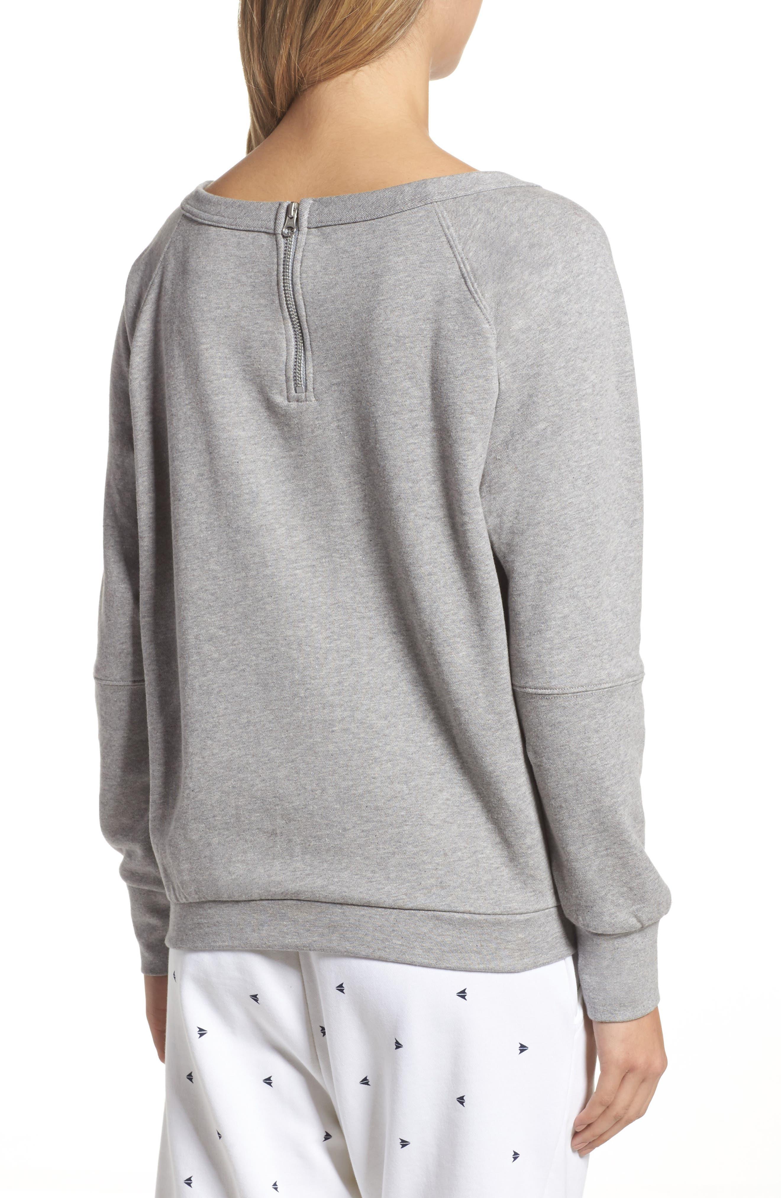 Heritage Starcrest Sweatshirt,                             Alternate thumbnail 2, color,                             Medium Heather Grey