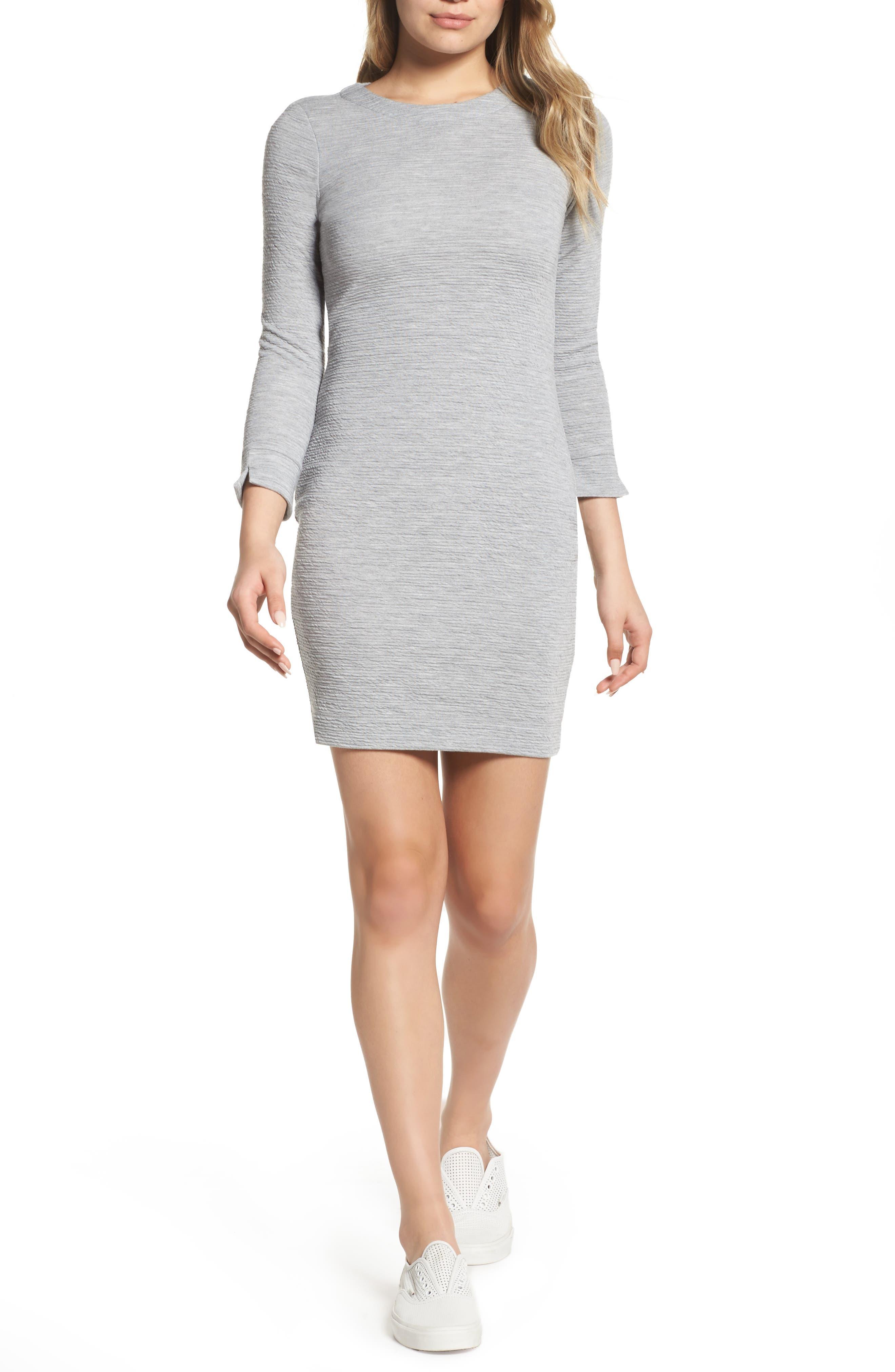 Sudan Marl Sheath Dress,                             Main thumbnail 1, color,                             Mid Grey Mel
