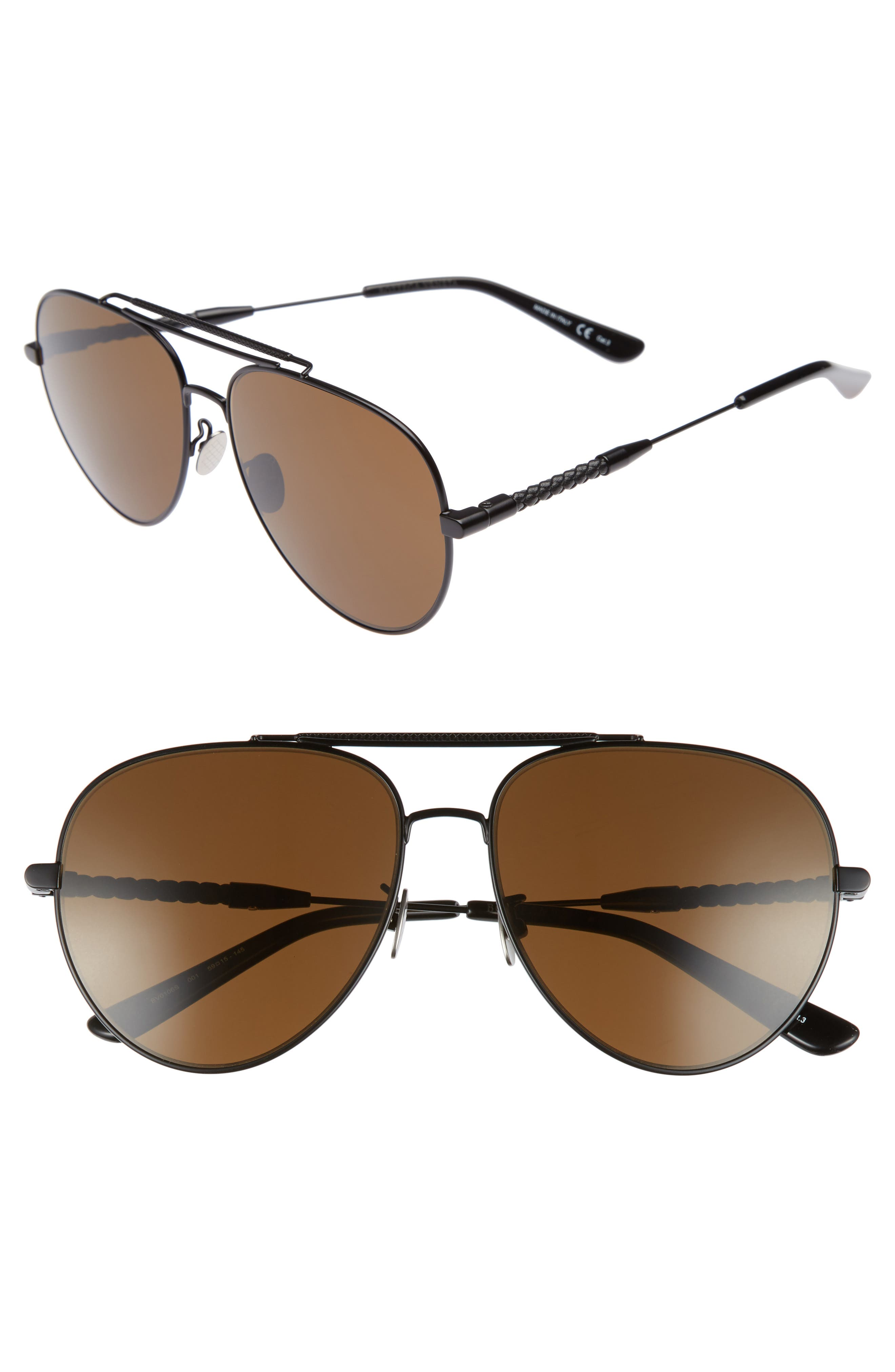 Alternate Image 1 Selected - Bottega Veneta 59mm Aviator Sunglasses