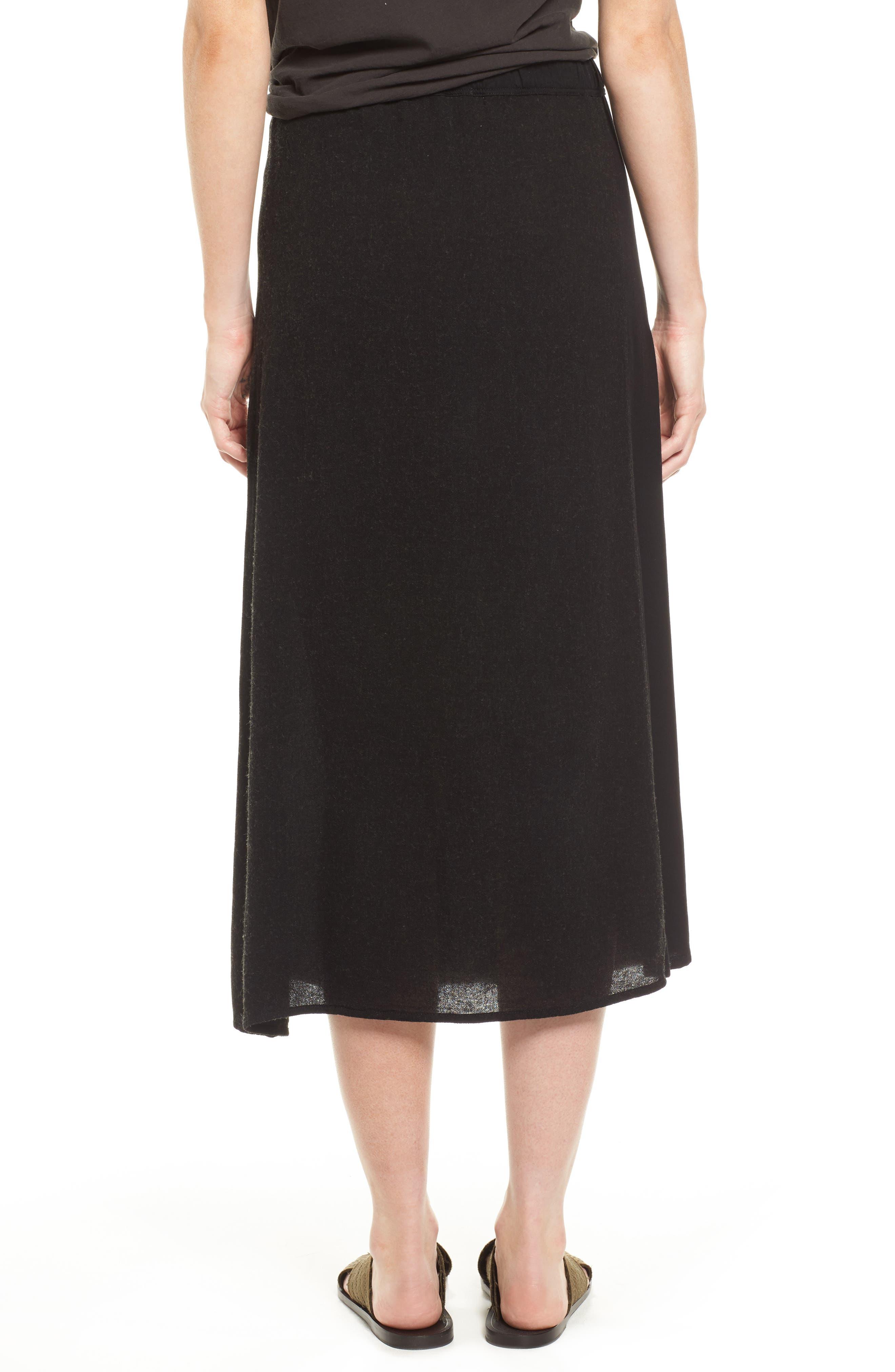 Midi Skirt,                             Alternate thumbnail 2, color,                             Black