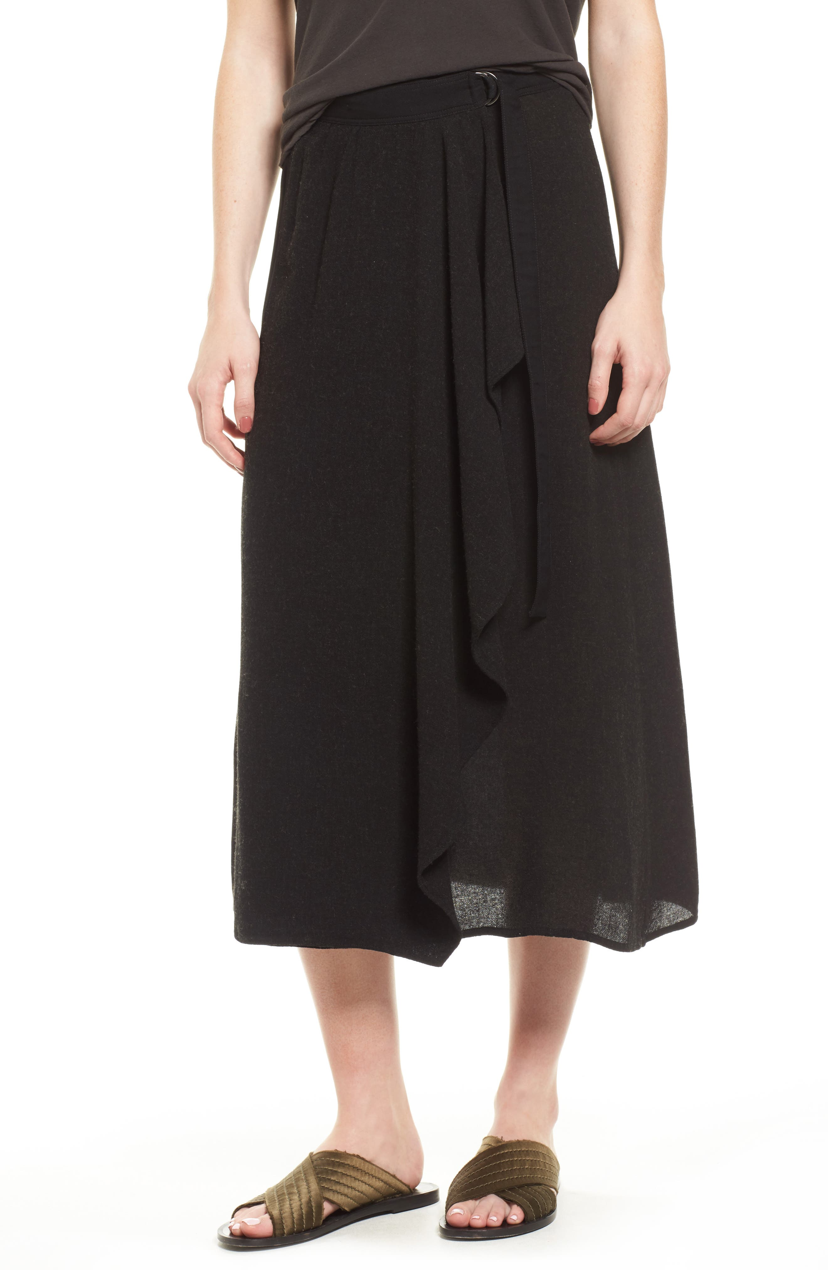 Midi Skirt,                             Main thumbnail 1, color,                             Black